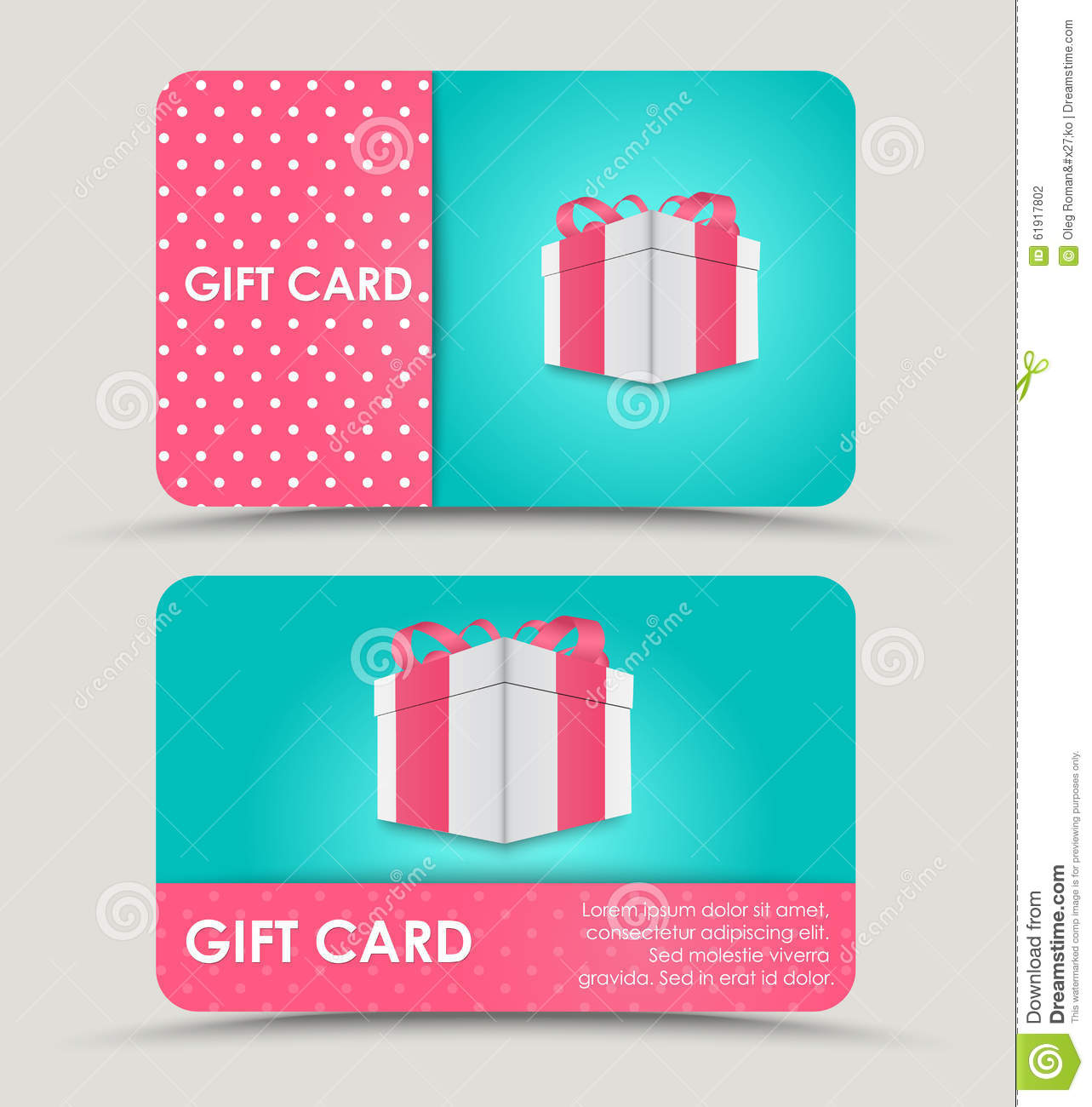 Design Gift Cards Stock Vector