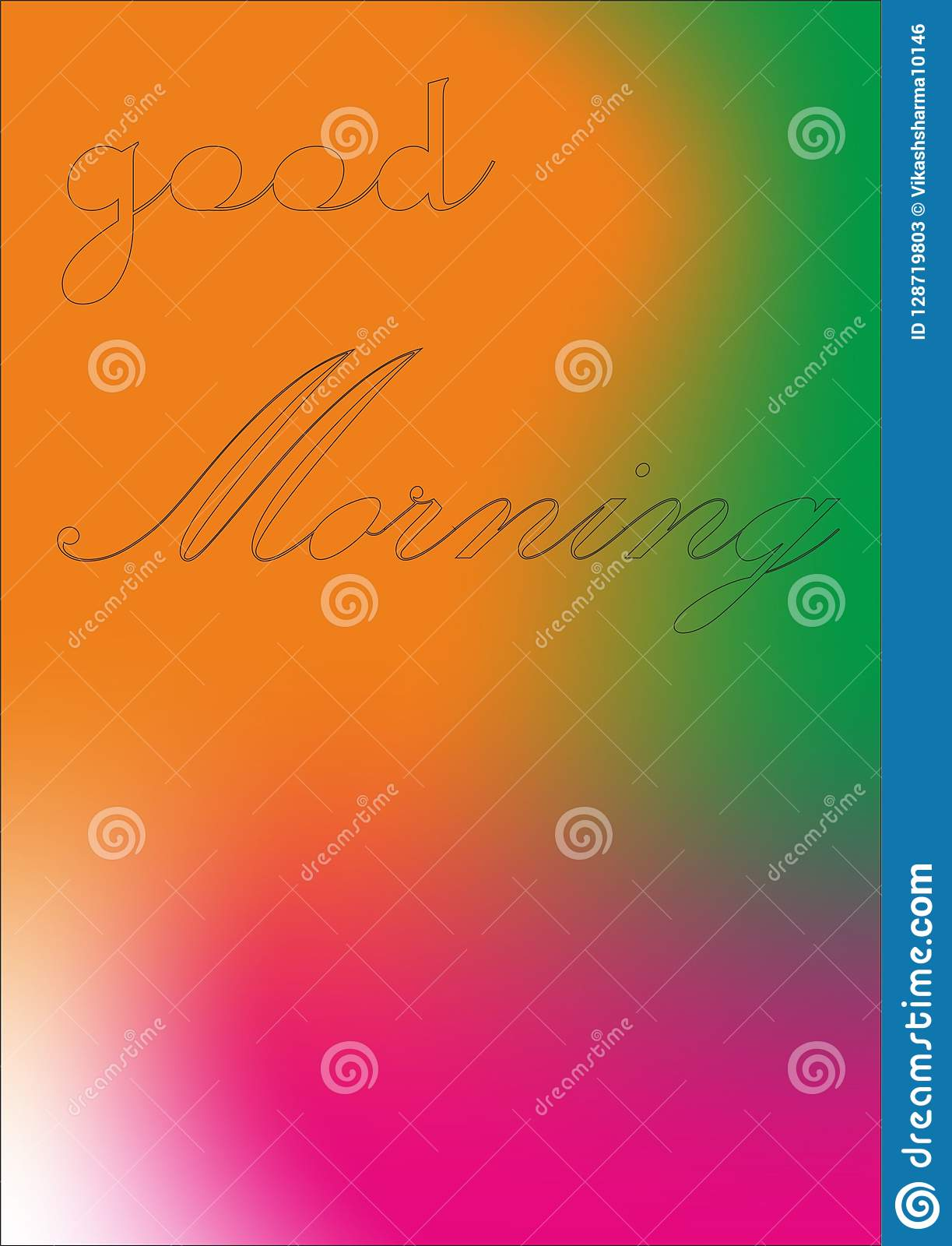 Design Good Morning Wishes Quotes Stock Illustration Illustration