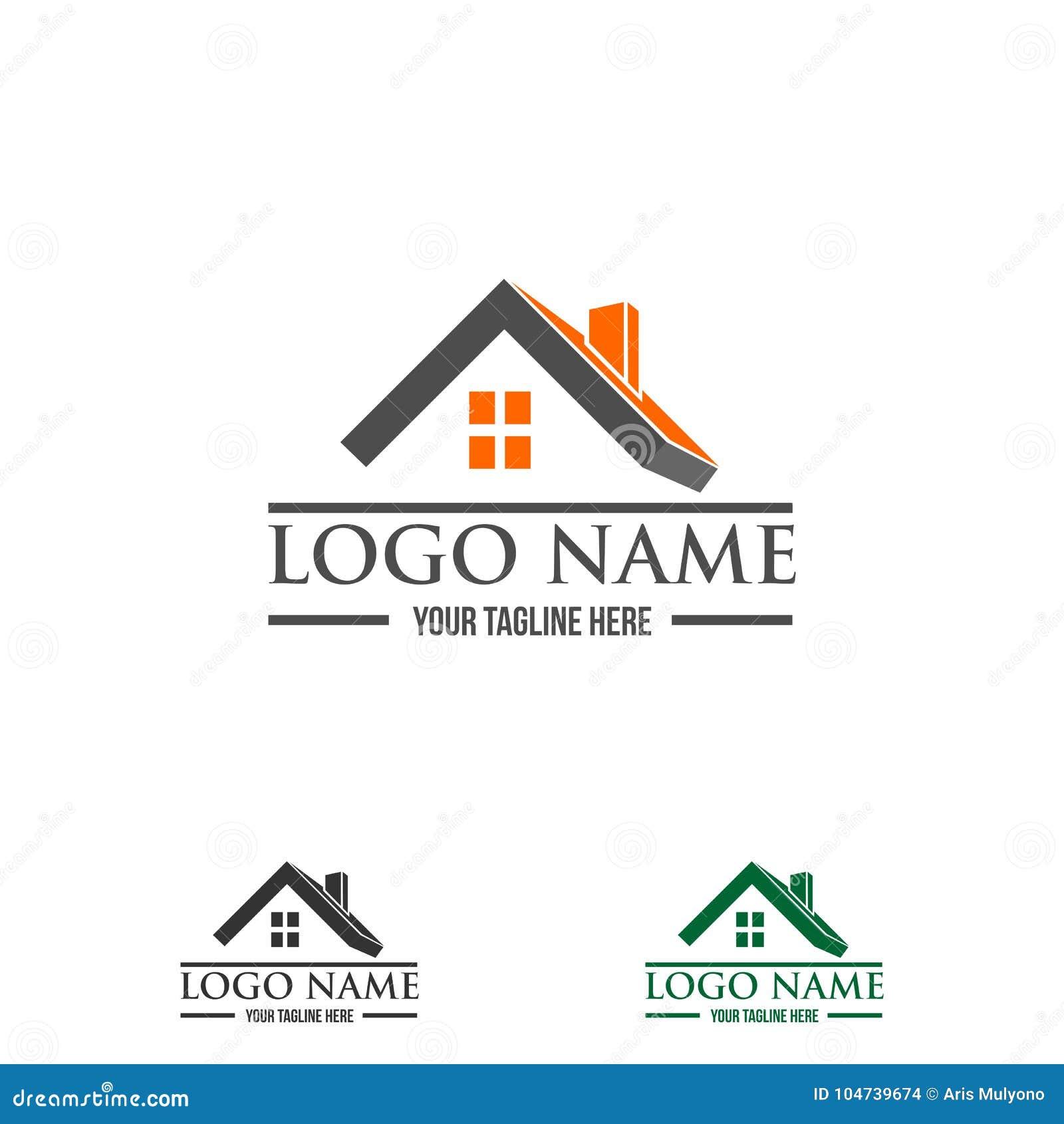 real estate  construction logo stock vector