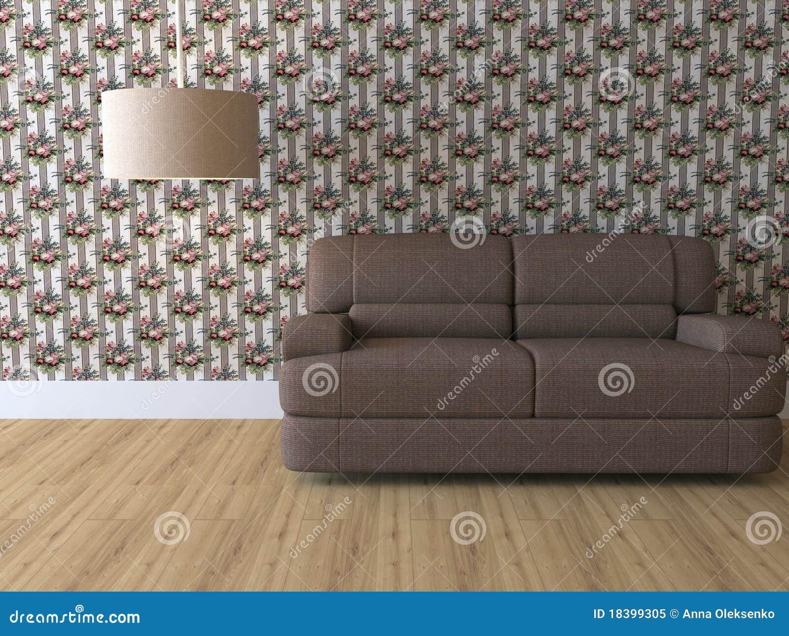 Design Interior Of Elegance Modern Living Room Stock Illustration