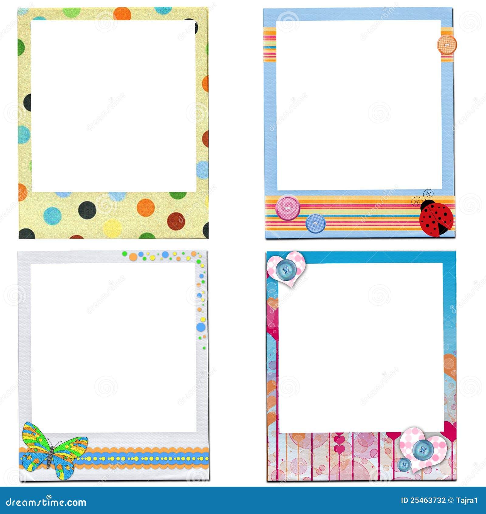 Design Of Kids Photo Frame Stock Illustration - Image ...