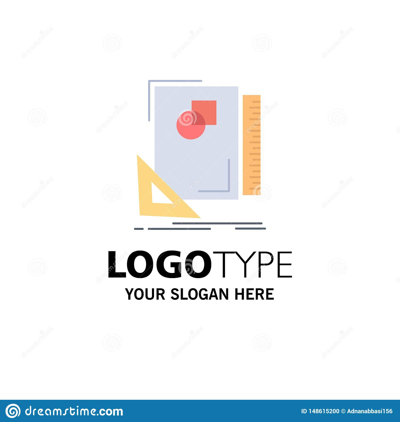 Design, layout, page, sketch, sketching Flat Color Icon Vector