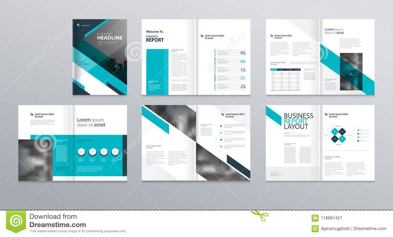 design layout template for company profile annual report