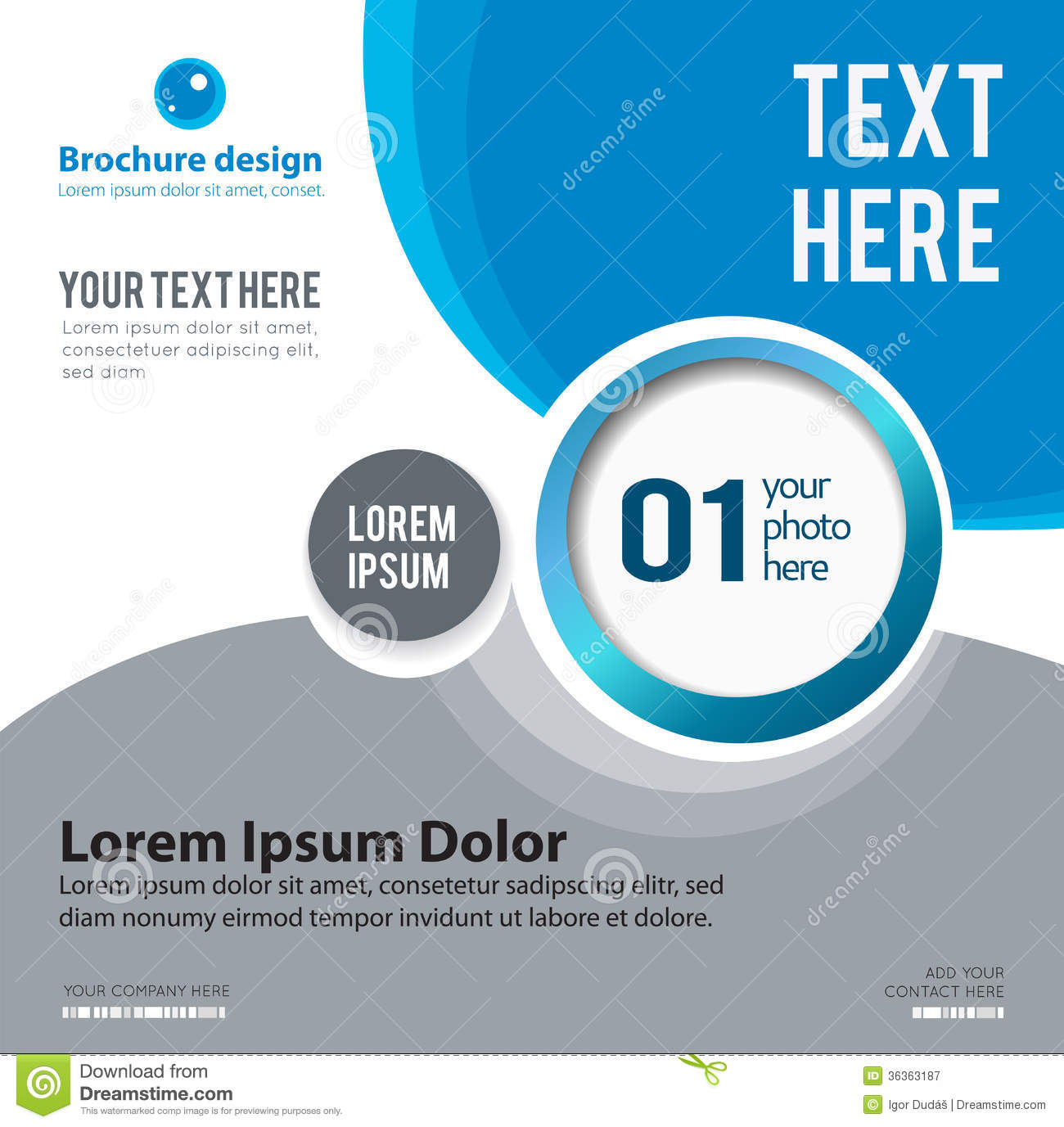 design layout template abstract leaflet