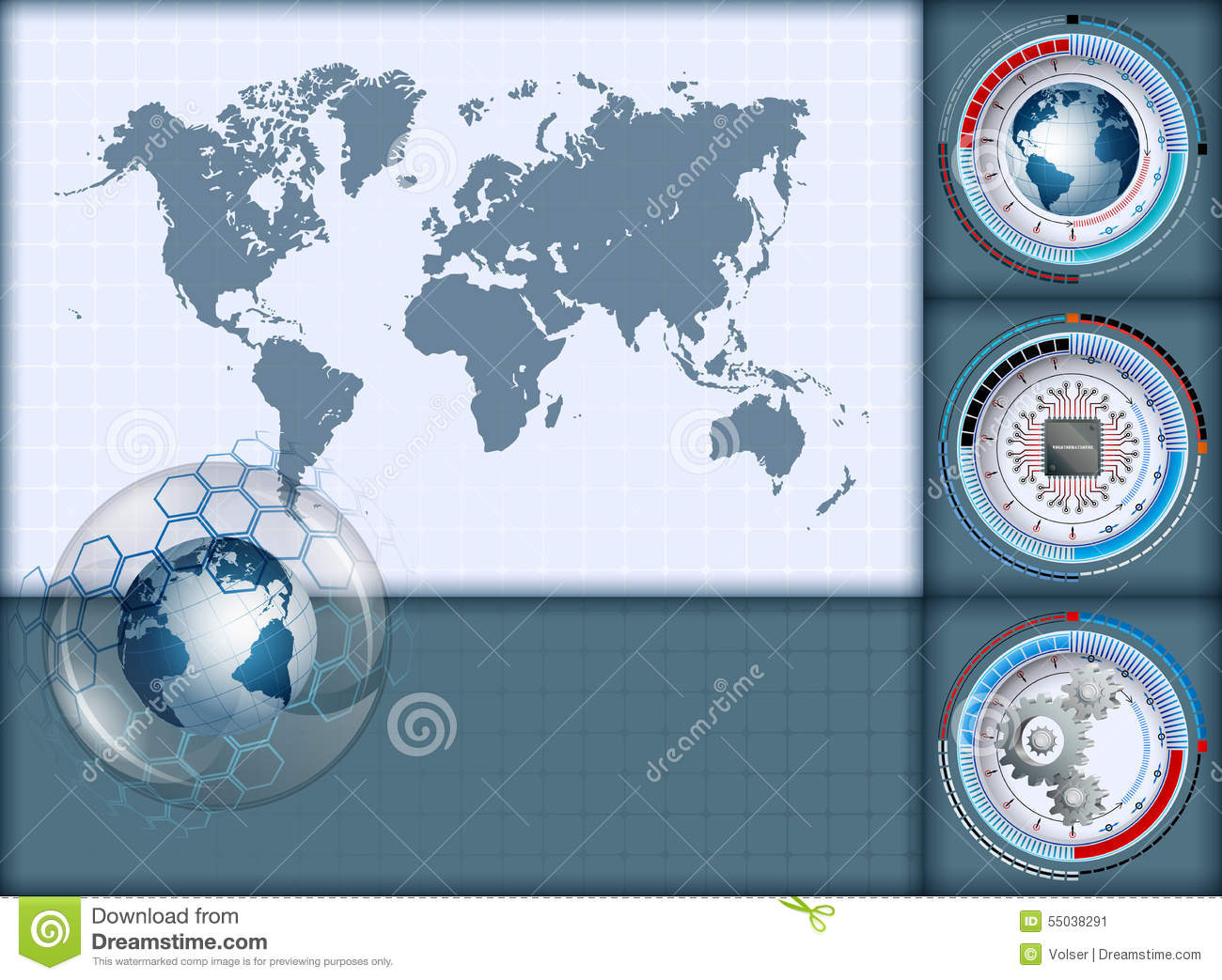 World Map Download For Computer. Design layout template  with World Map and earth globe inside sphere of glass Layout Template With And Earth Globe Inside