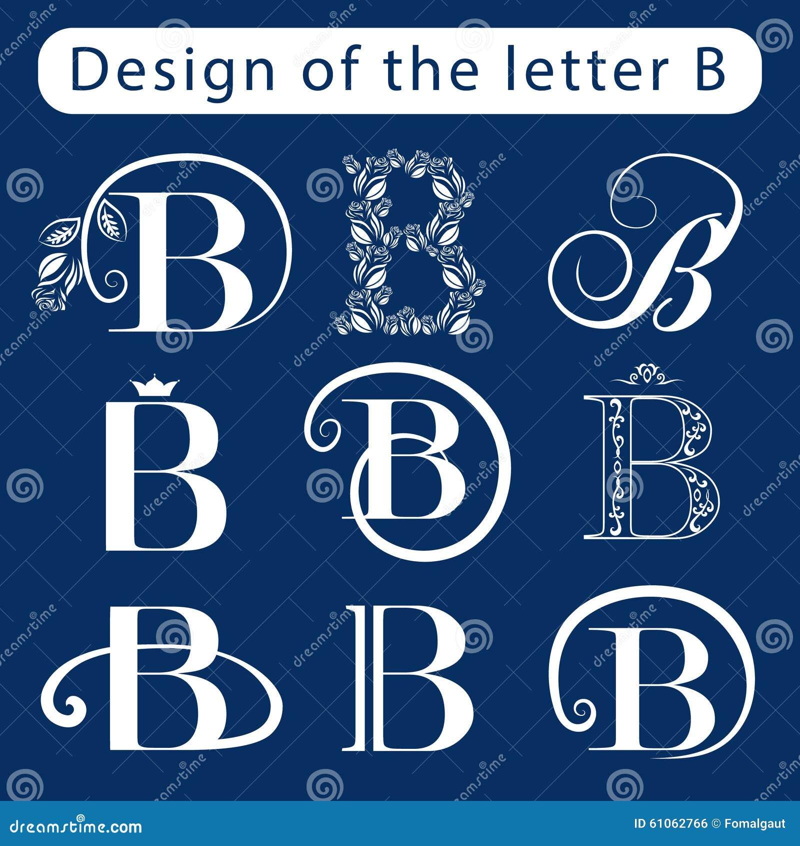 design of the letter b calligraphic elegant line art logo. Black Bedroom Furniture Sets. Home Design Ideas