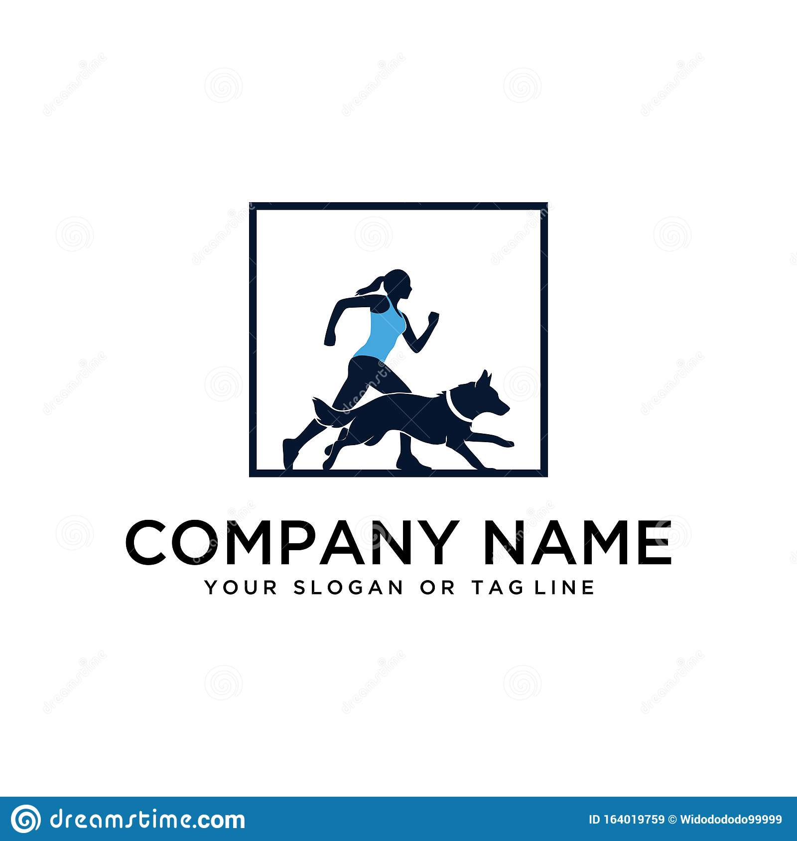 Design Logo Ideas Training Dogs Vector Template Stock Vector Illustration Of Care Element 164019759