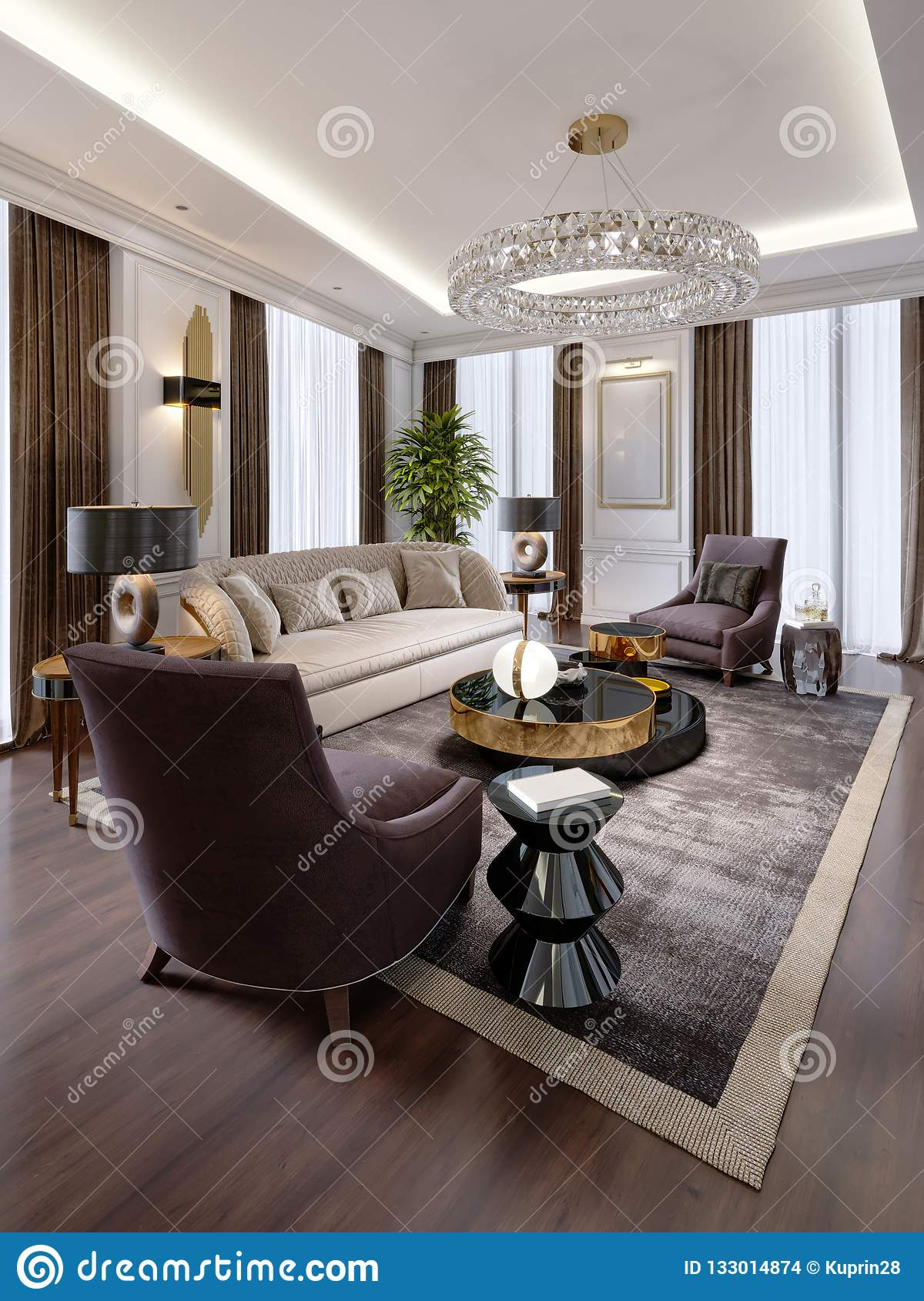 Design Of Luxury Apartments In Modern Style With Designer Furniture ...