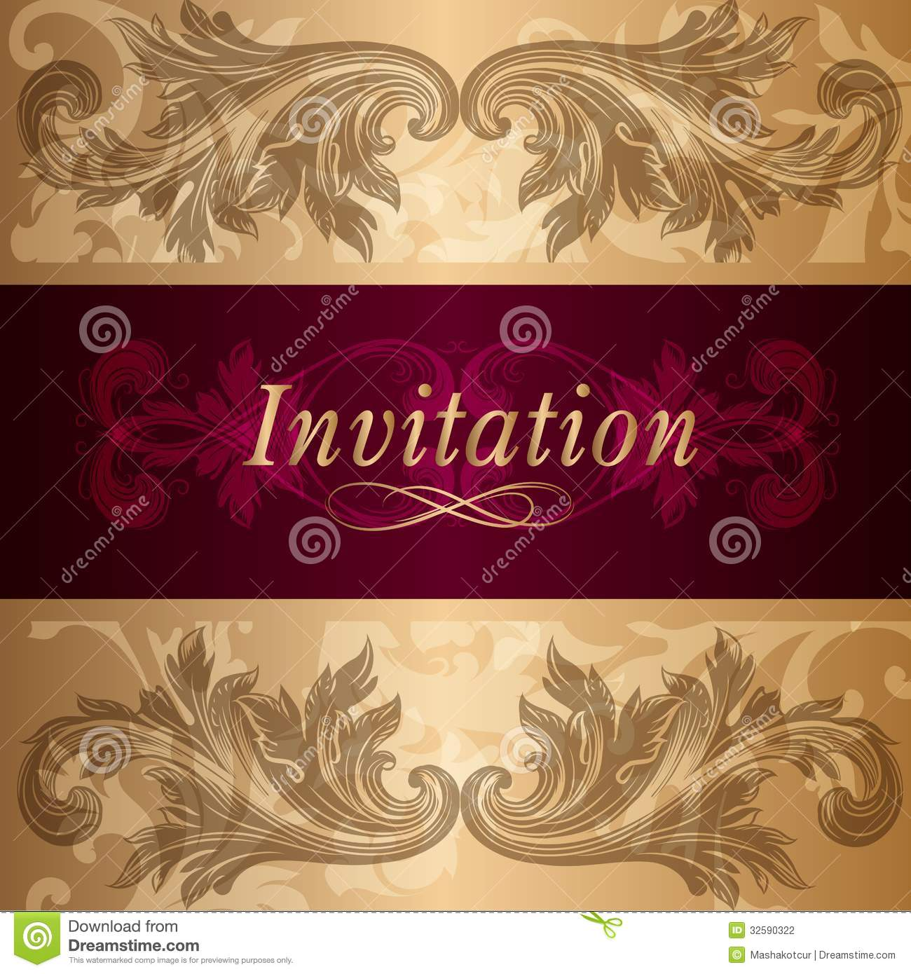 Design Of Luxury Invitation Card In Vintage Style Stock Vector ...