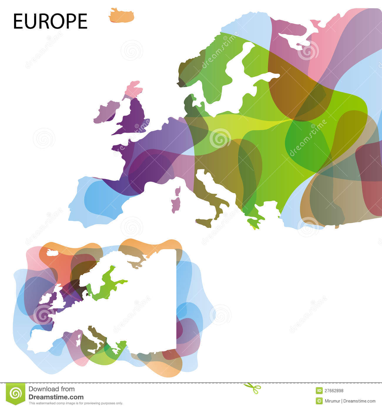 Design map of europe stock vector image of clean eps10 for Map designer free
