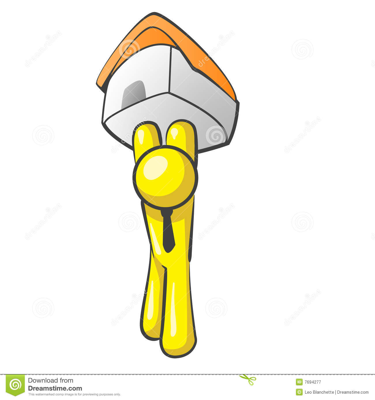Design Mascot House Holding Royalty Free Stock Photography