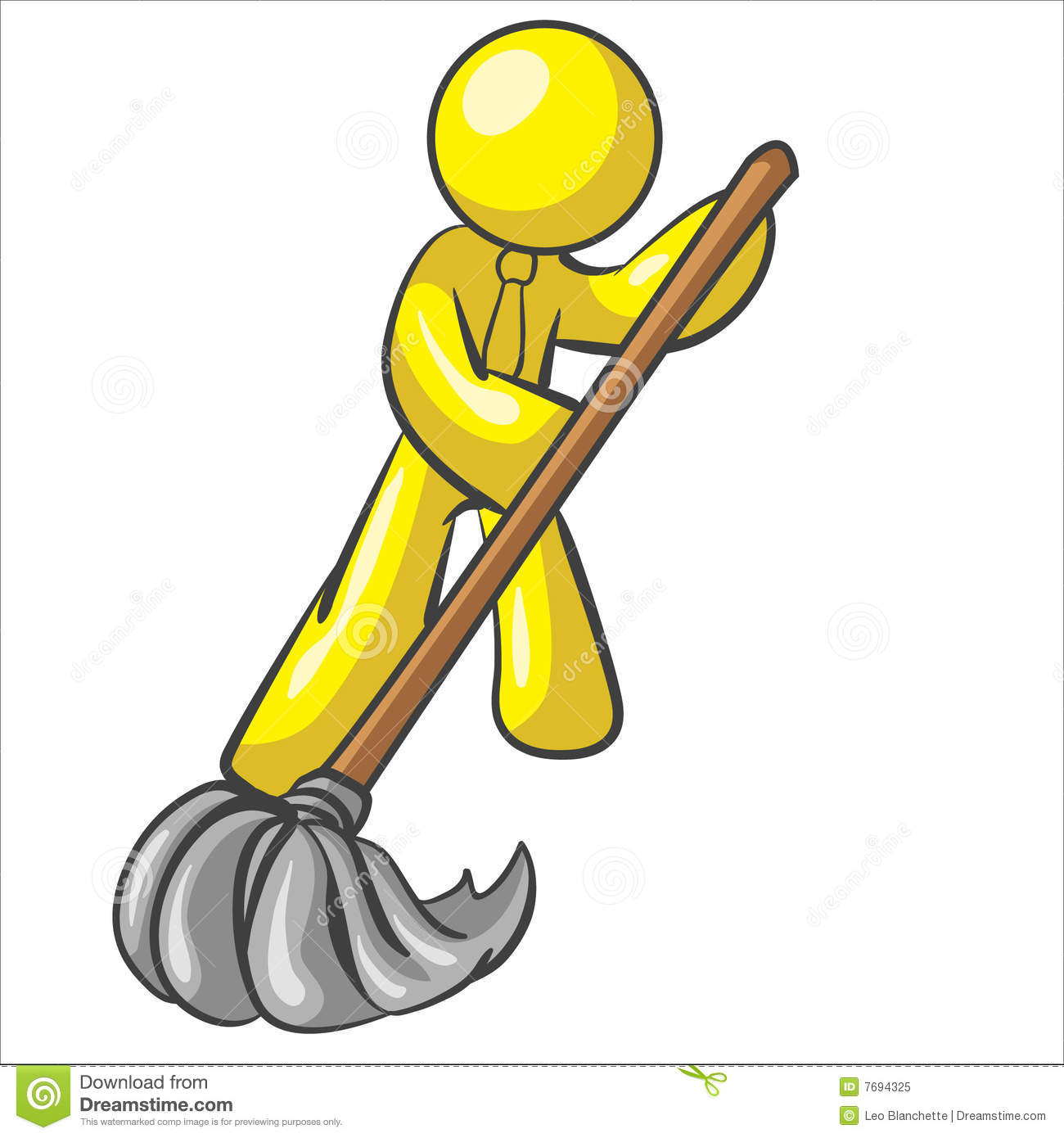 Design mascot mopping floor royalty free stock photo for Boden wischen