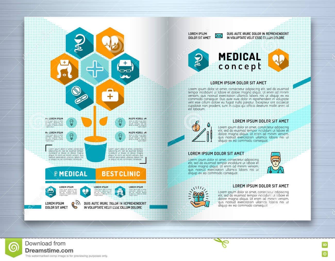 Design Medical Brochure Template A4 Size Catalog Health And Beauty