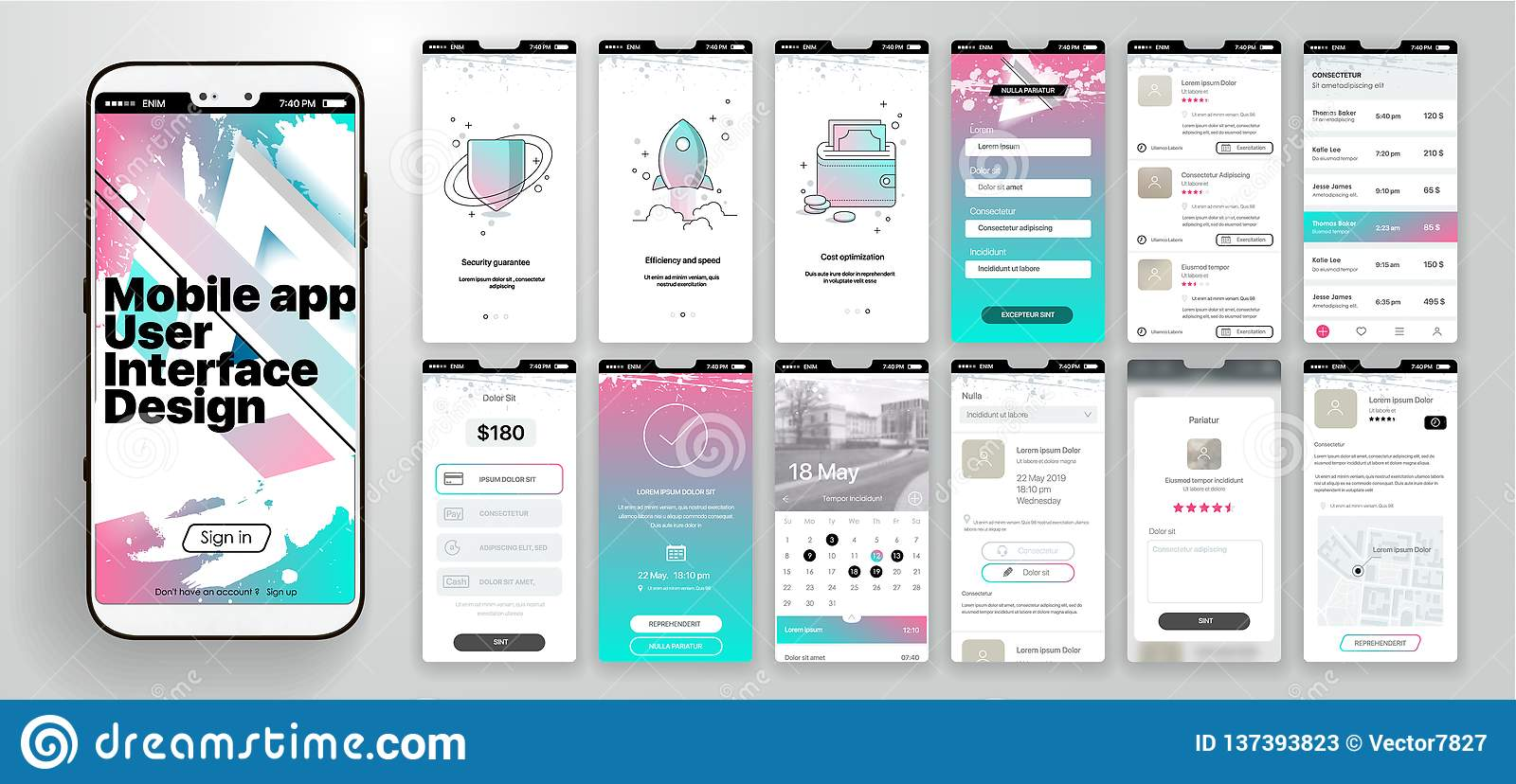 Design Of The Mobile Application, UI, UX. A Set Of GUI Screens With on ecommerce design, mobile optimization, development design, mobile website development, project management design, movie design, travel design, mobile system architecture, mobile user interface, css design, operating system design, business design, mobile game development, design design, ui ux design, photography design, web design, mobile development architecture, mobile management, ios design,