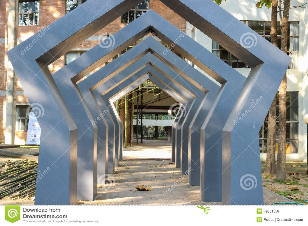 The Design Of Modern Archway Stock Photo - Image of building, pillar ...