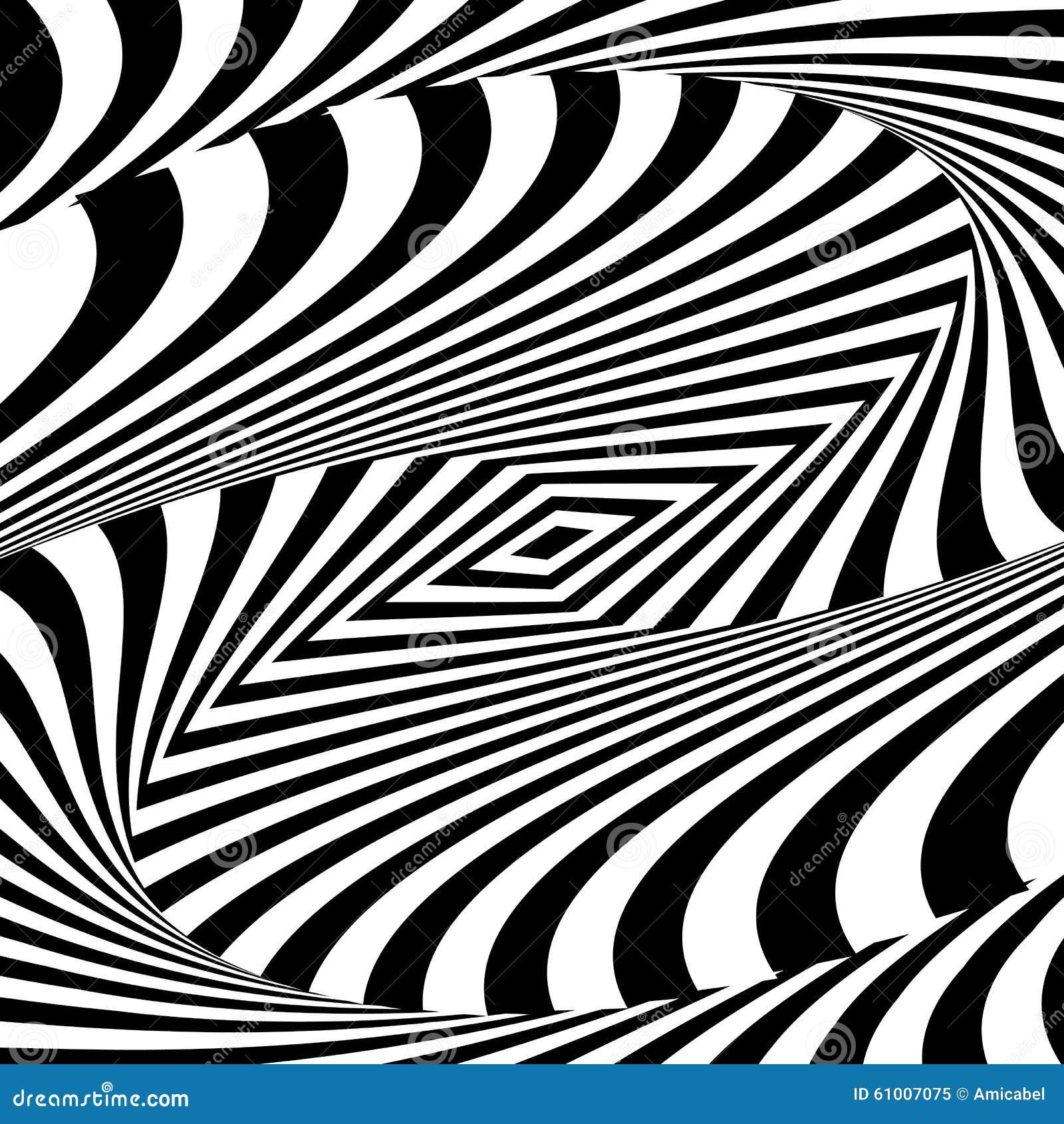 Design Monochrome Movement Illusion Background Stock
