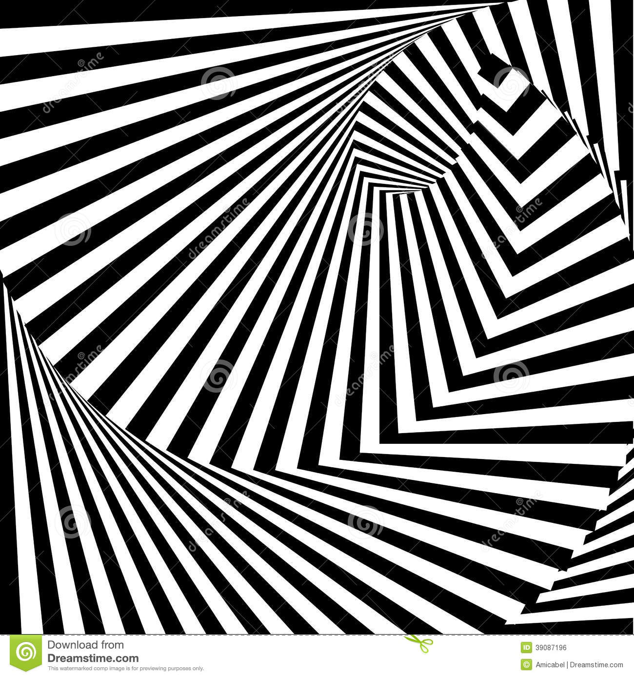 Line Art Movement : Design monochrome vortex illusion background stock vector