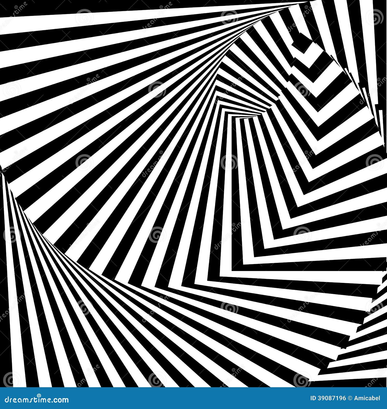 Line Movement Art : Design monochrome vortex illusion background stock vector