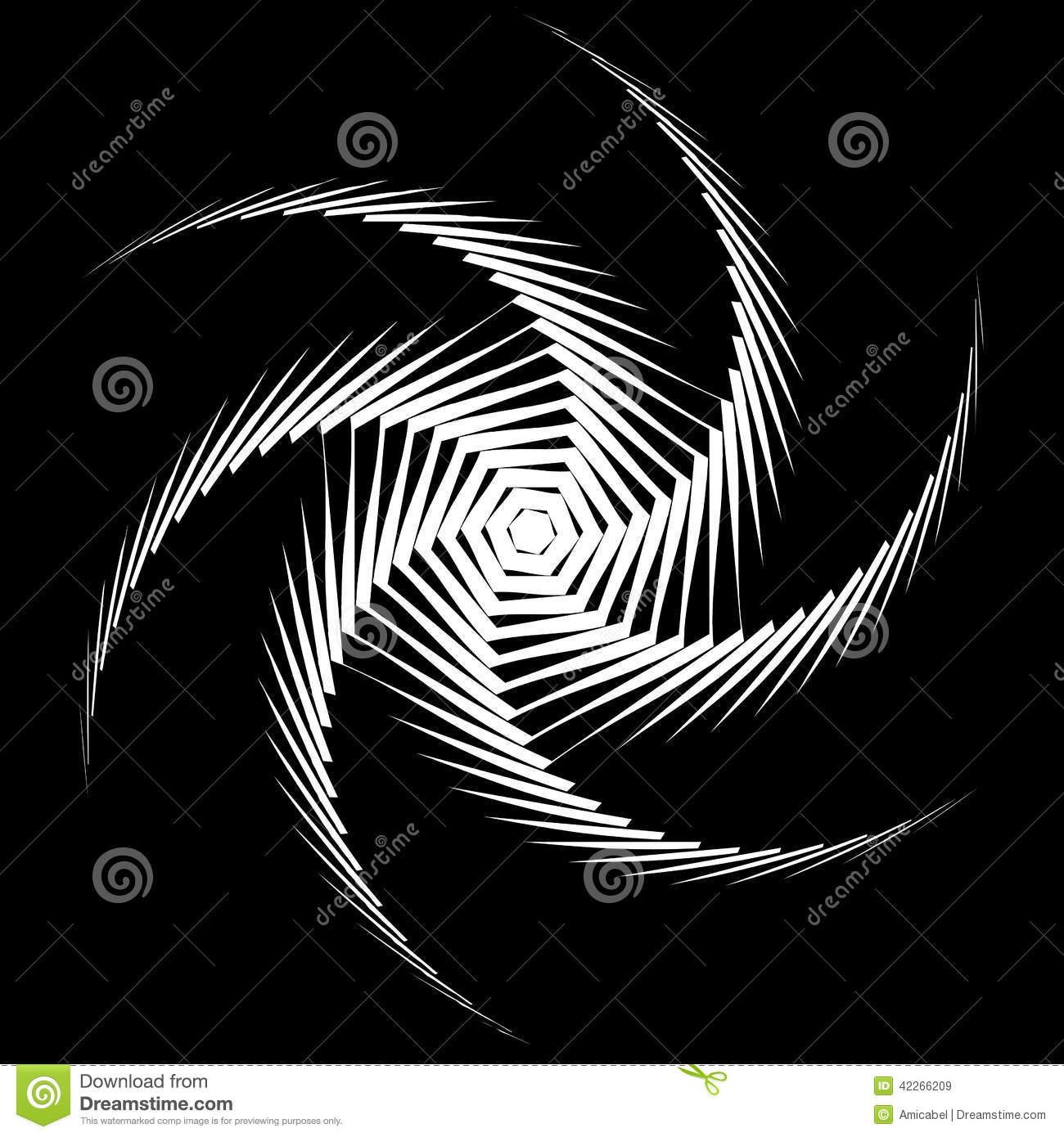 Elements Of Movement : Design monochrome whirl octopus background stock vector