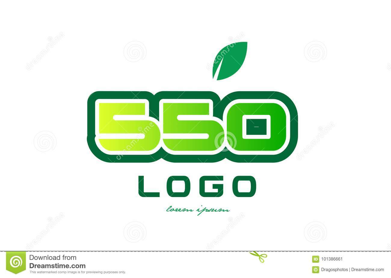 Number 550 numeral digit logo icon design stock vector for Green design company