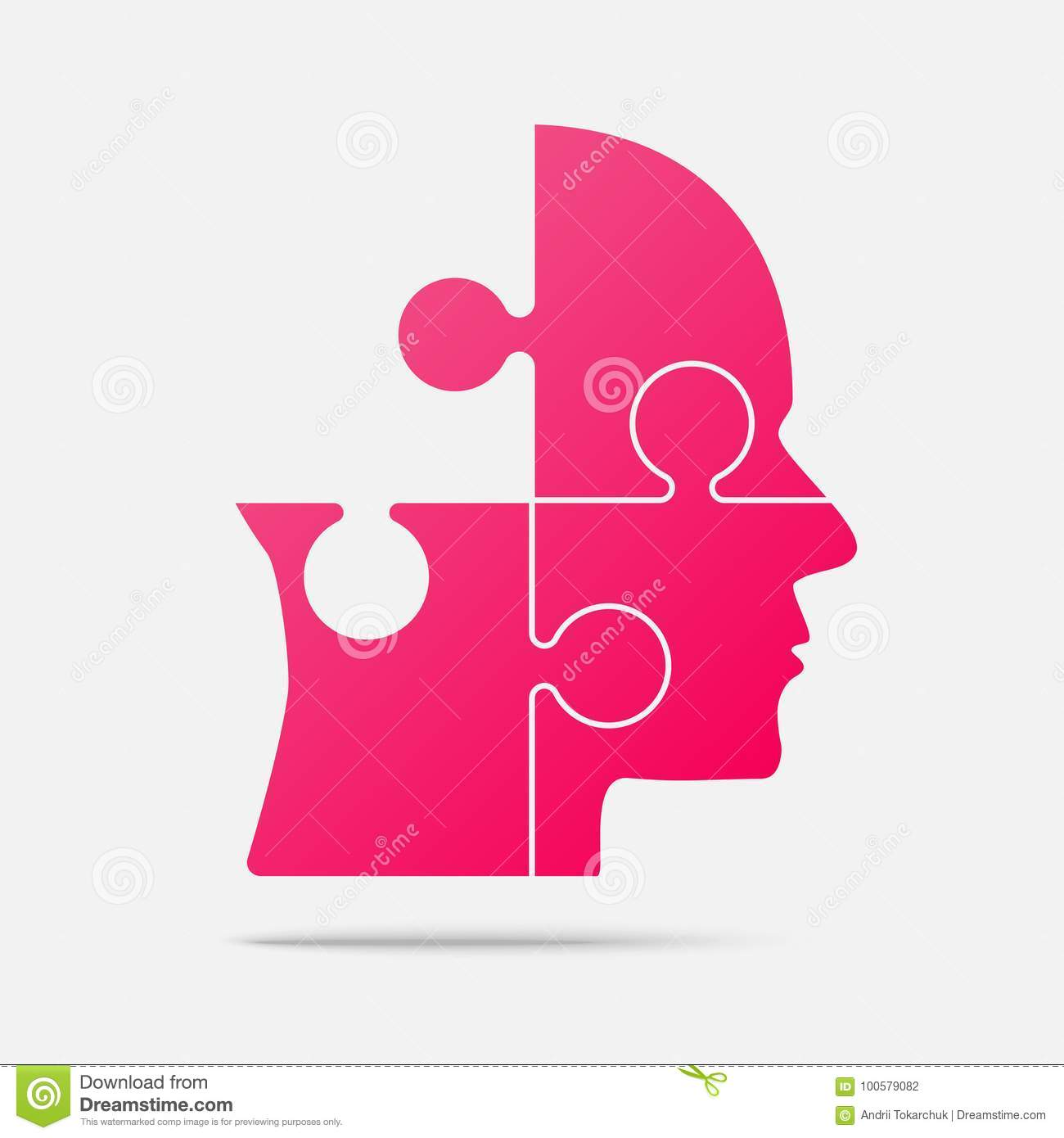 Download Design Pink Puzzle Piece Head