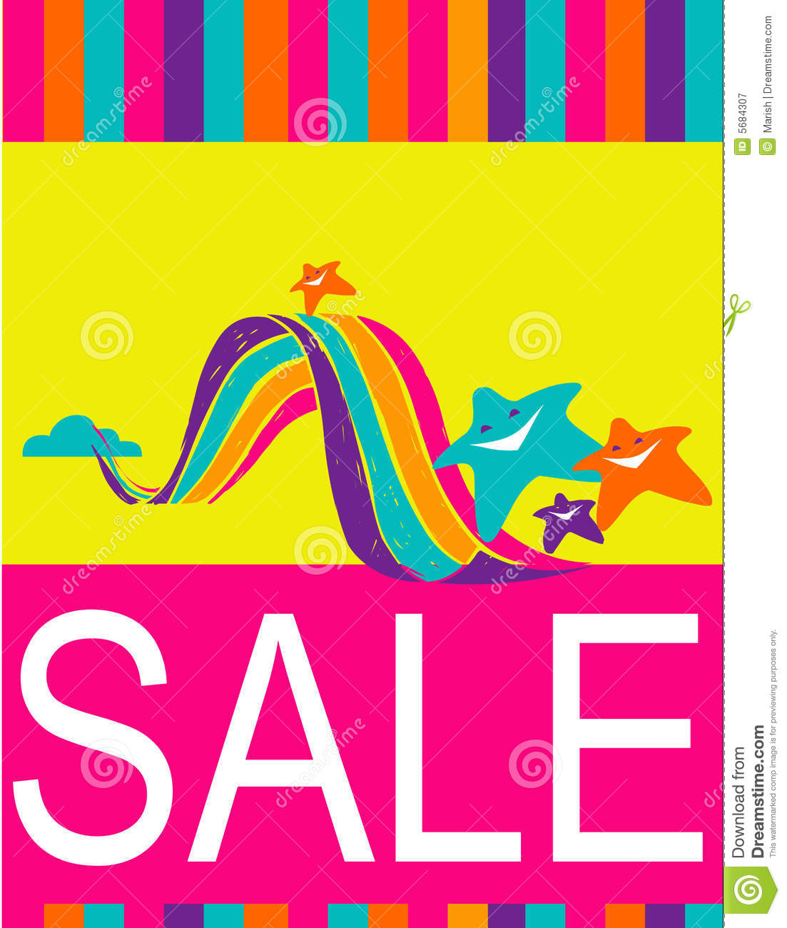 Design Of Poster Flyer For Shopping Sale Royalty Free – Sale Flyer Design