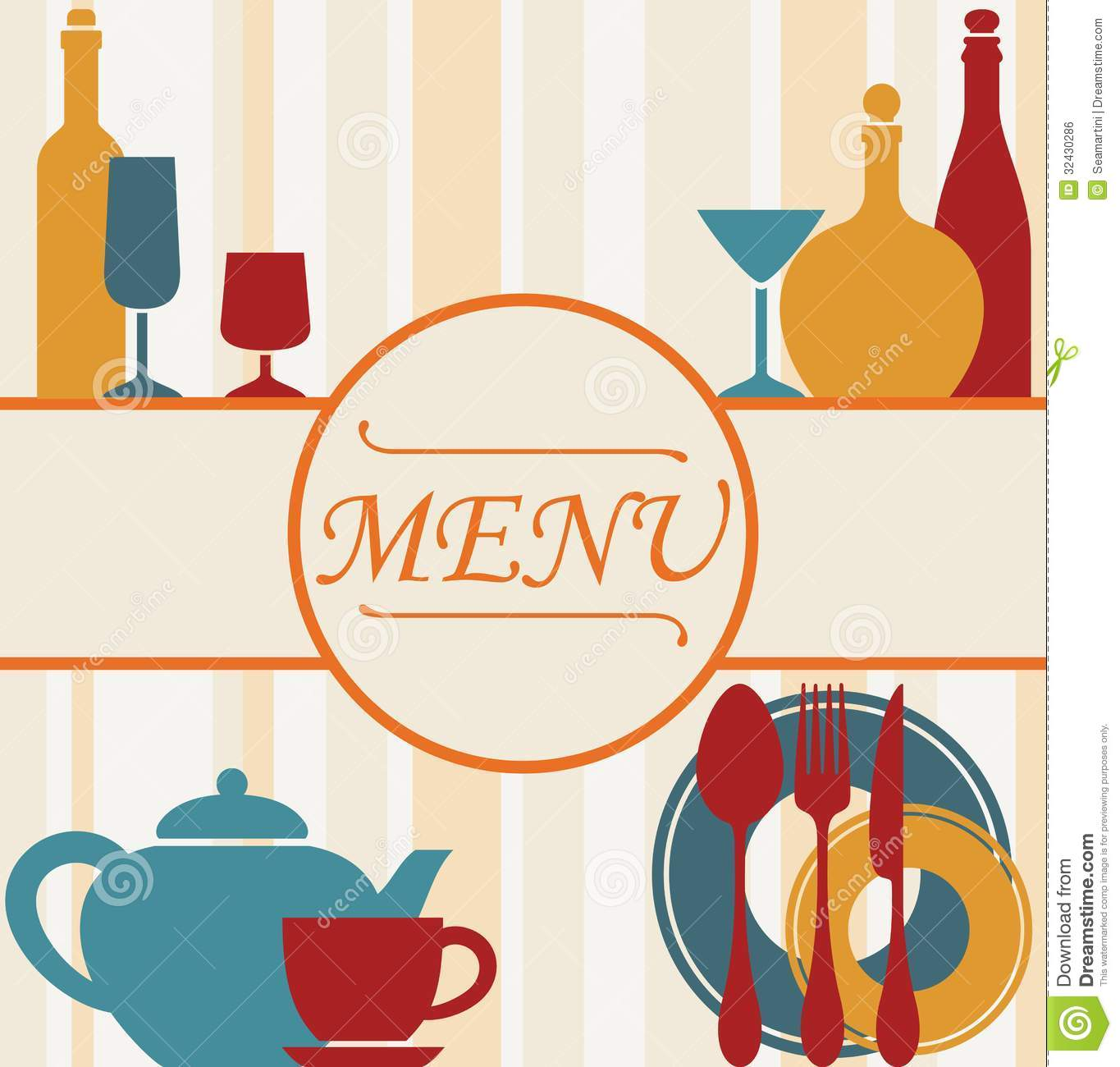 Design of restaurant menu background stock vector image