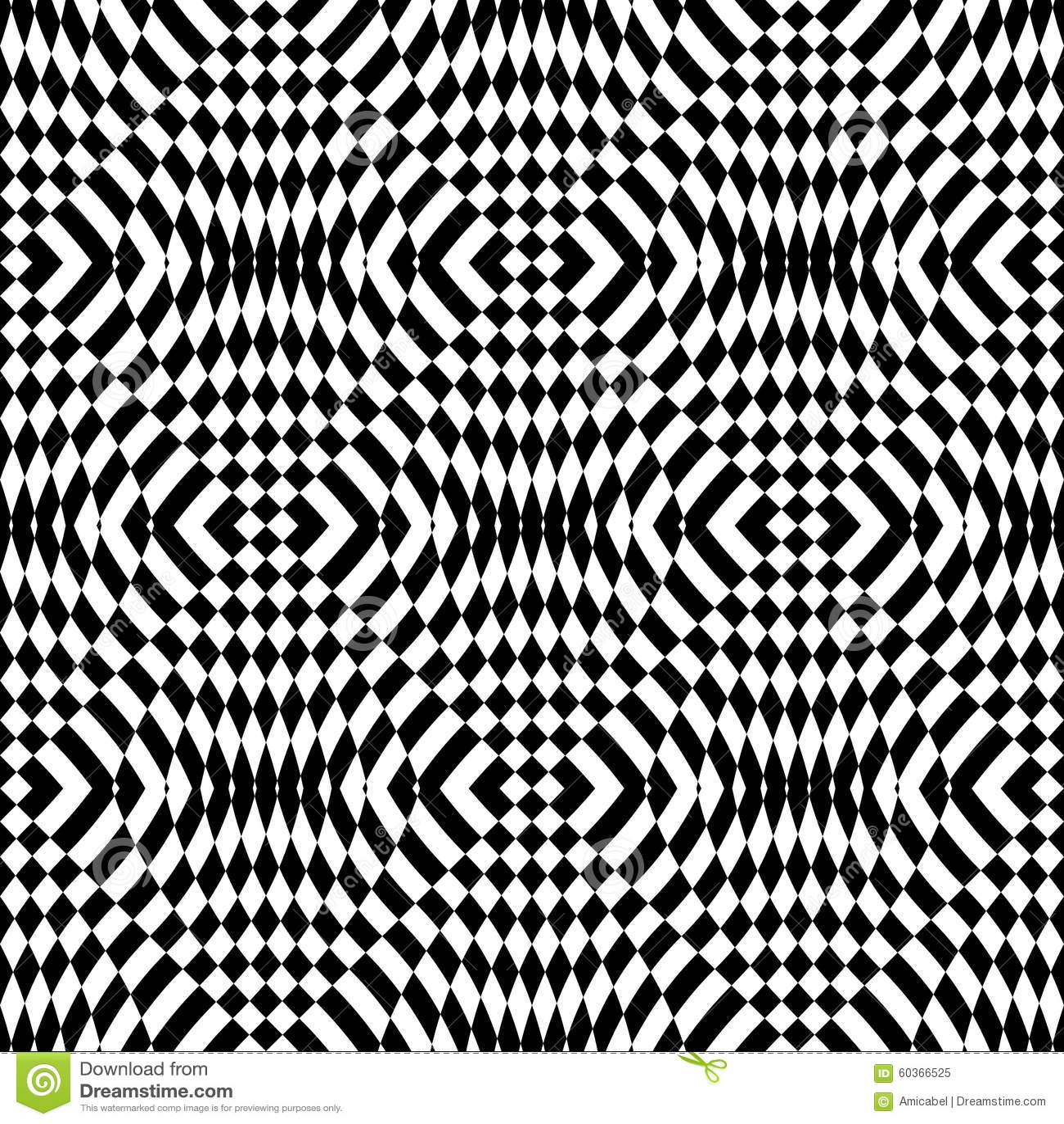 Design seamless monochrome geometric pattern stock vector for Geometric illusion art