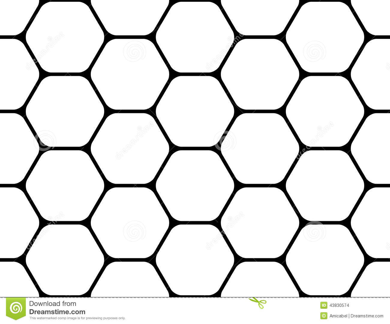 Design Seamless Monochrome Hexagon Pattern Stock Vector ...