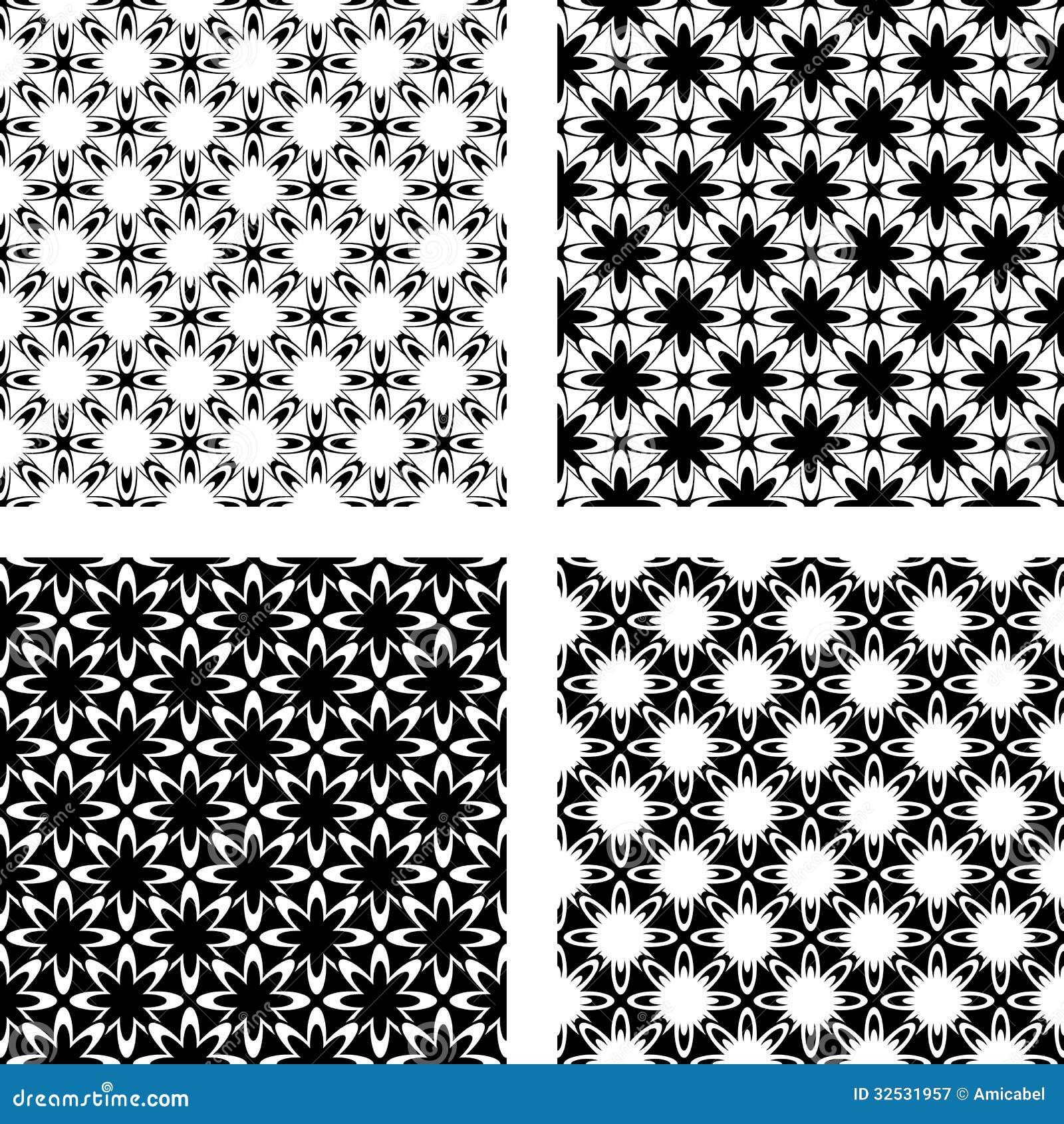 Design Seamless Monochrome Pattern Royalty Free Stock