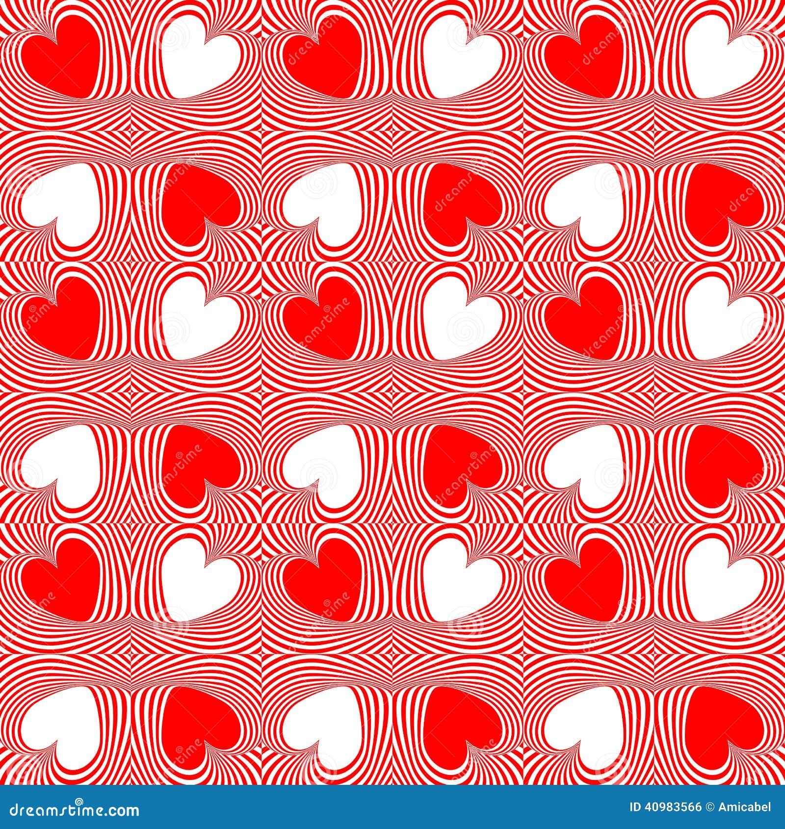 Design seamless twirl movement heart pattern