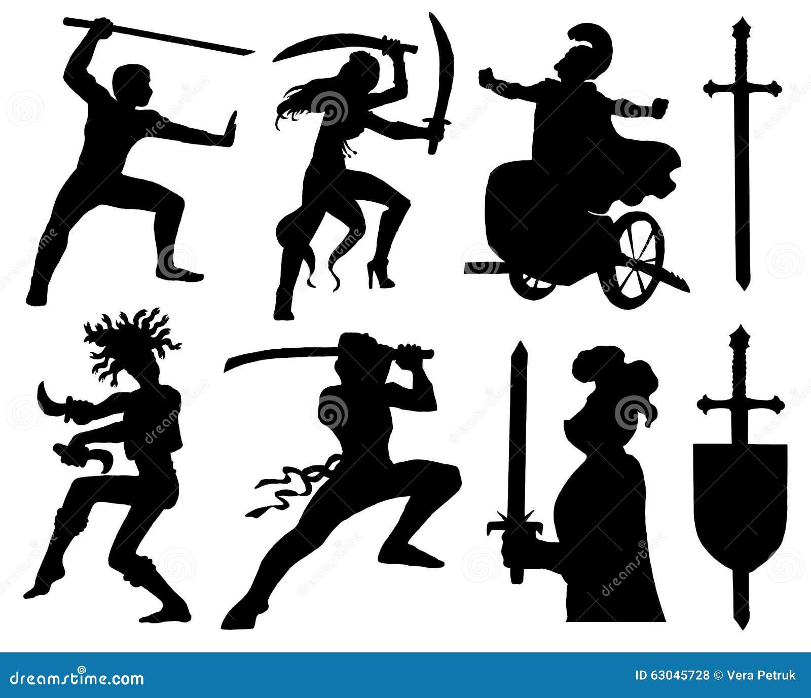 Design set with symbols of warriors stock vector illustration of design set with symbols of warriors biocorpaavc Gallery