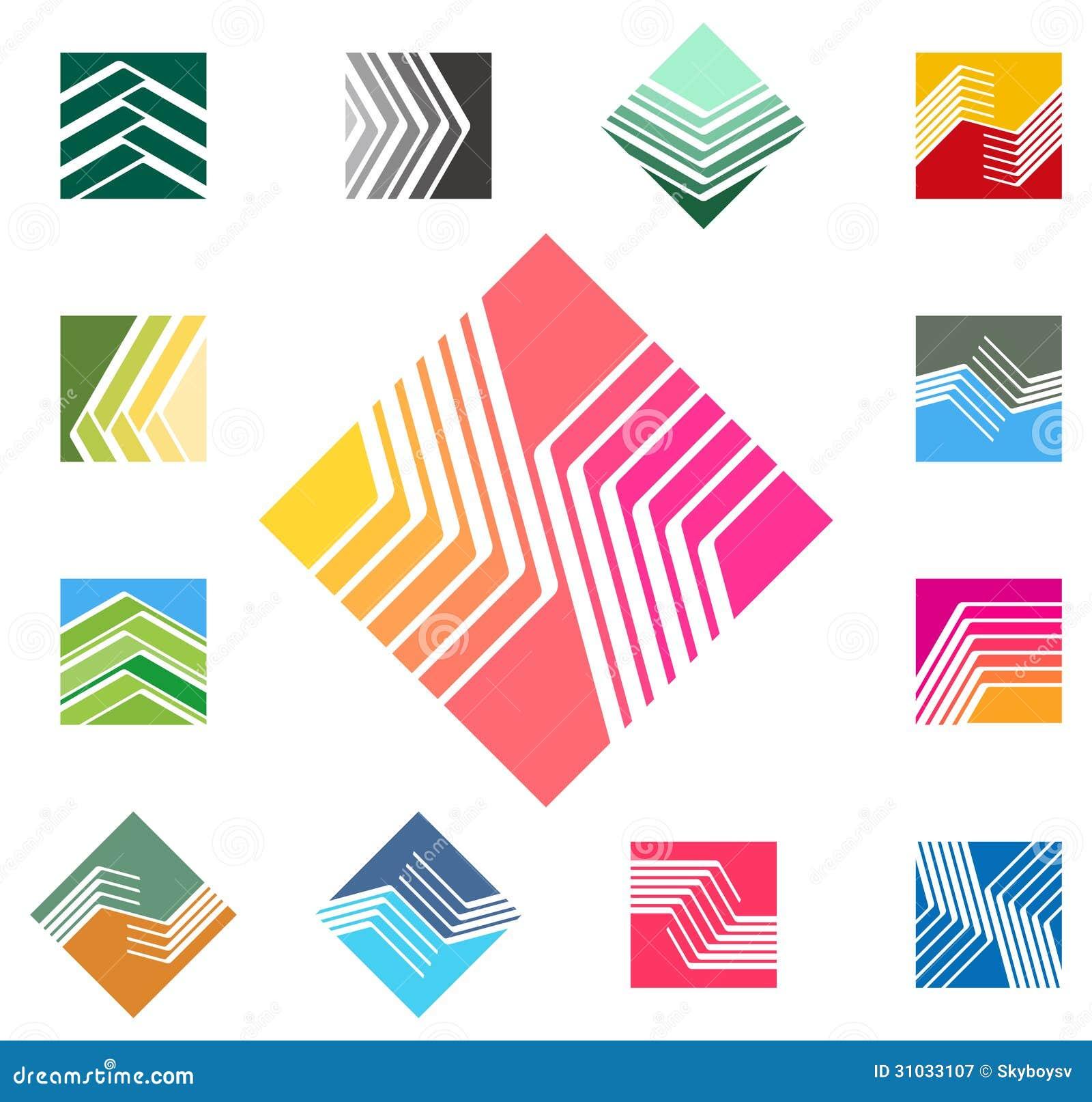 Interior design logo vector - Design Square Vector Logo Template Royalty Free Stock Photography