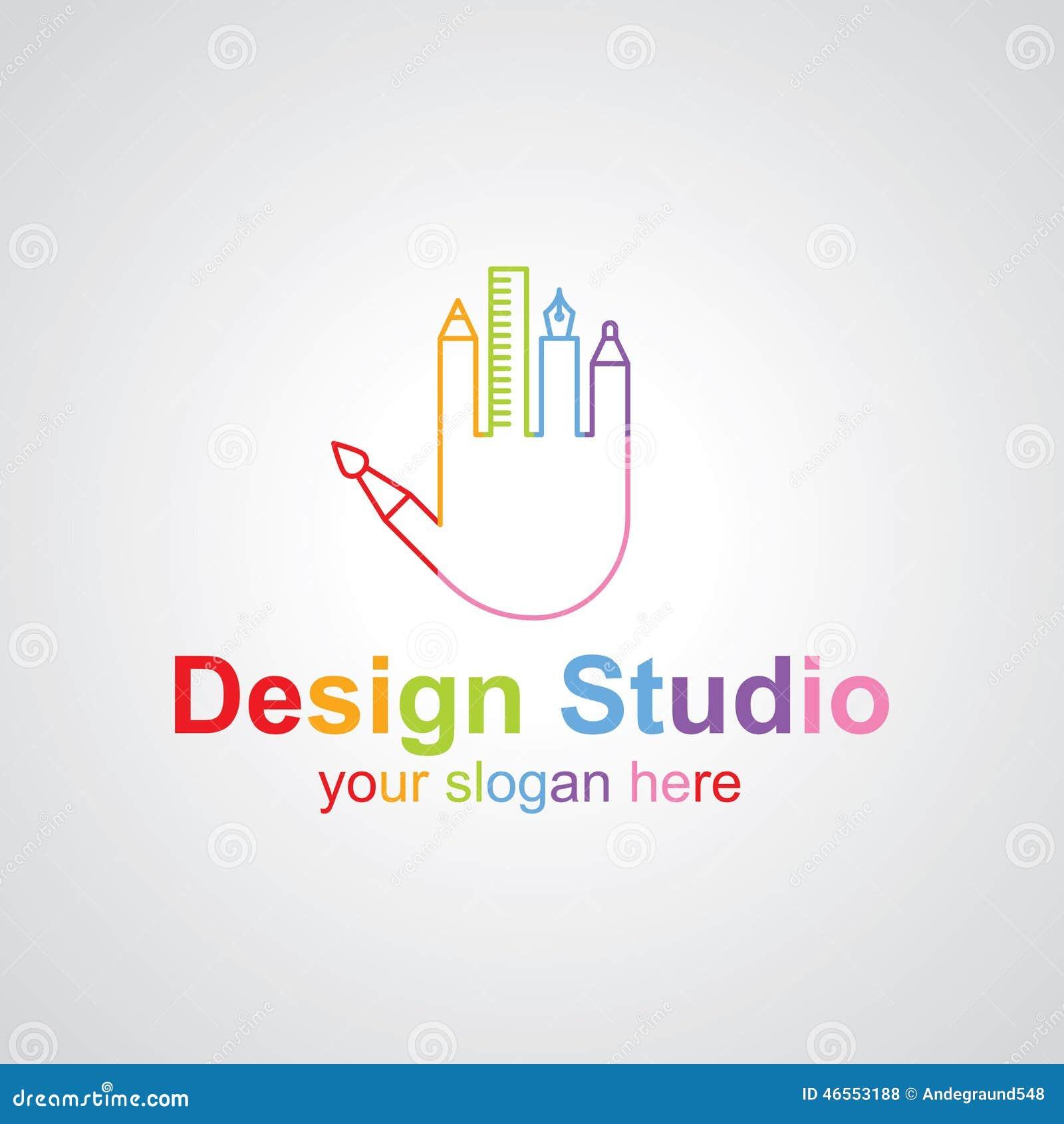 Design Studio Vector Logo Design Stock Vector Image