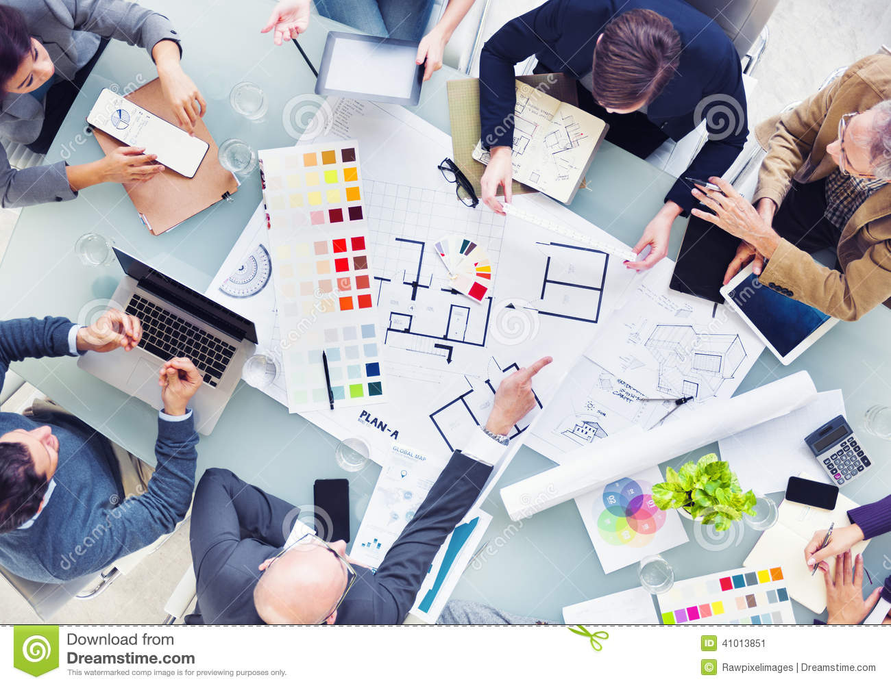 Design Team Planning For A New Project Stock Photo Image