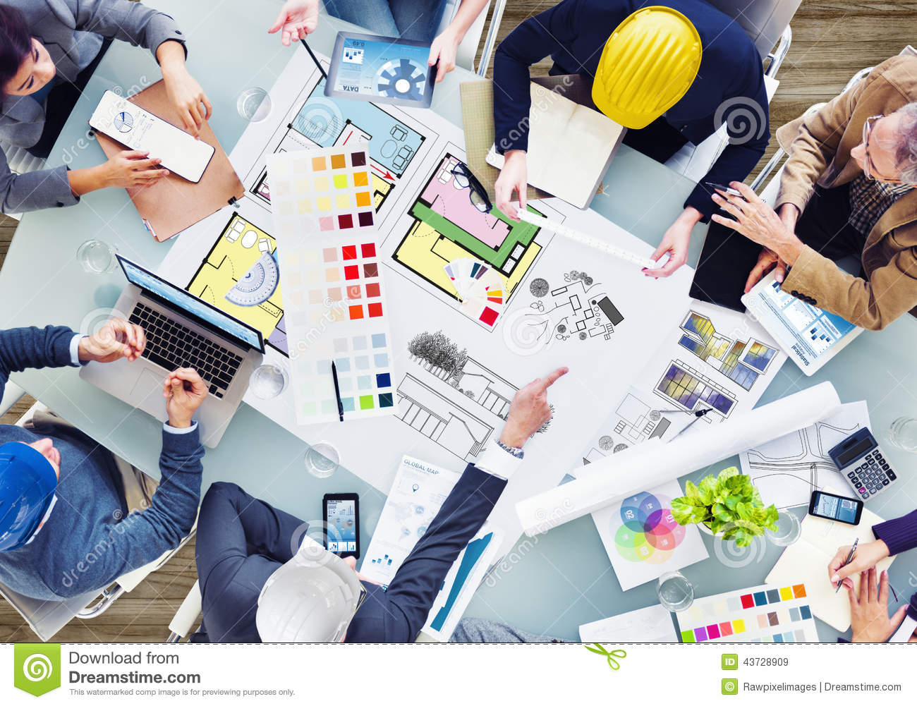 Office Meeting Room Design Team Planning For A New Project Stock Photo Image