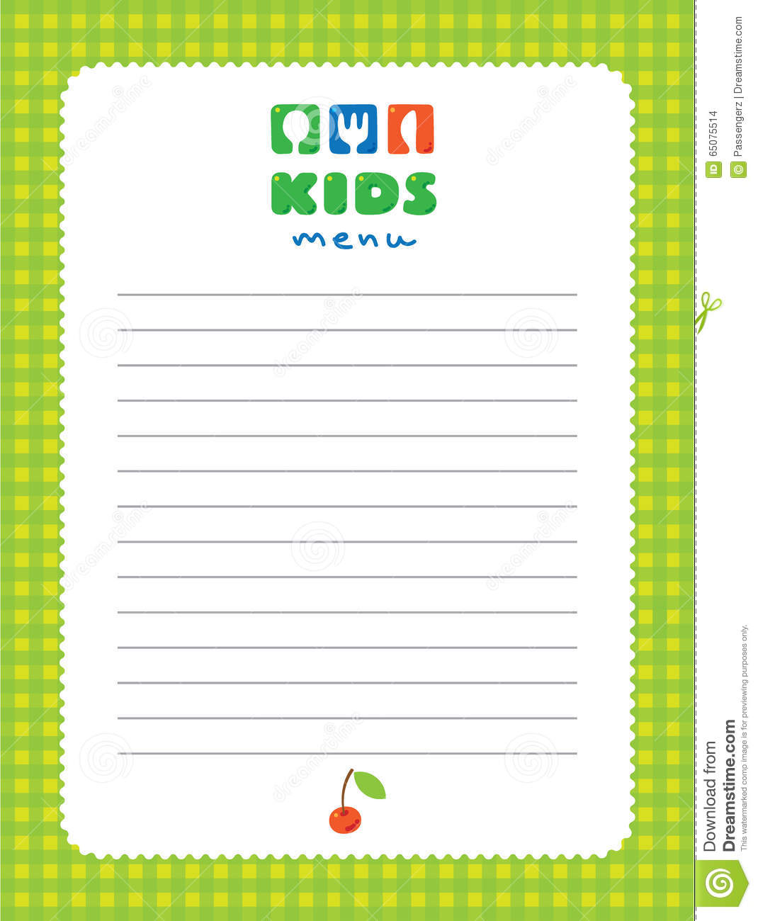 Design Template Background For Kids Menu  Kids Menu Templates