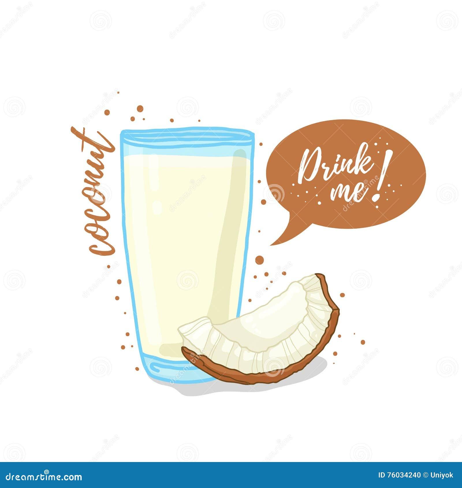 Glass juice cups design - Banner Coconut Cup Design Drink Glass Illustration Juice