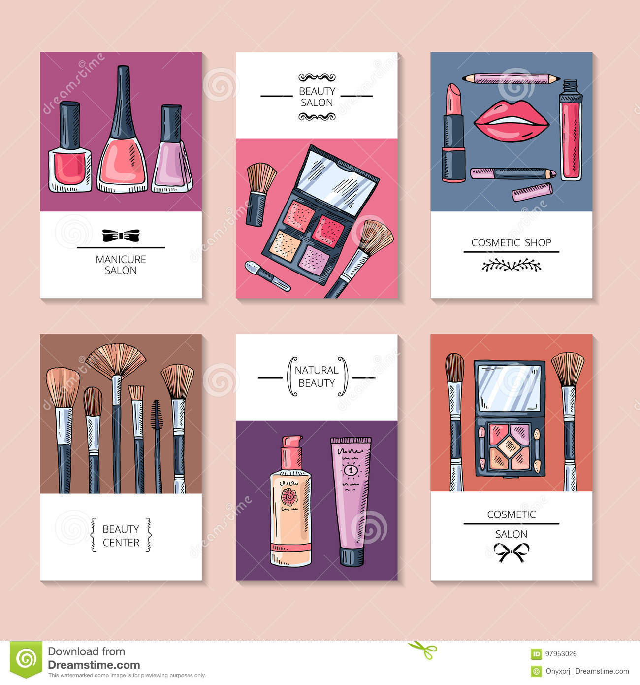 Design template of different business cards or banners for beauty download design template of different business cards or banners for beauty salon stock vector illustration colourmoves