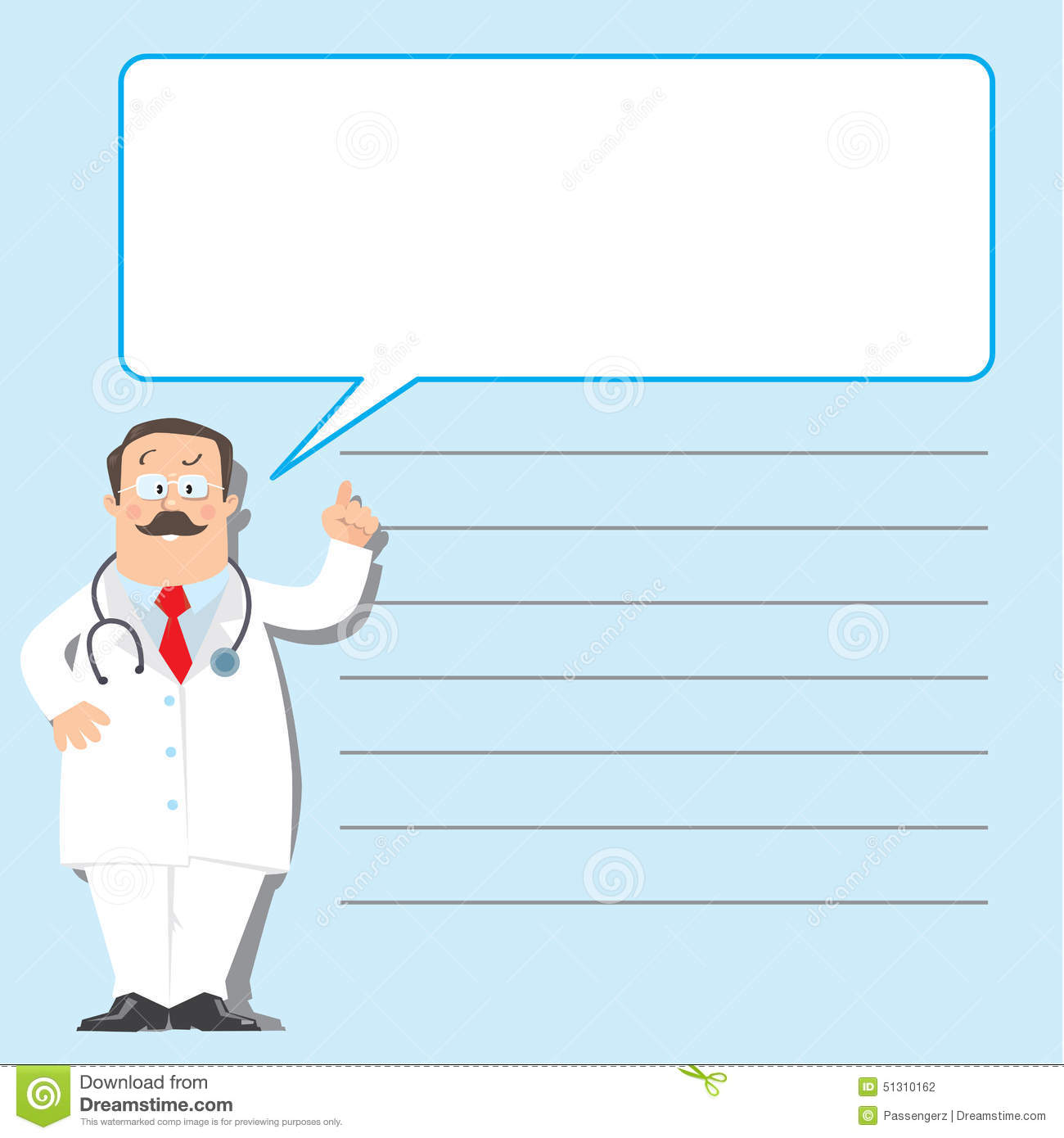 Design Template With Funny Doctor Stock Vector - Illustration of ...
