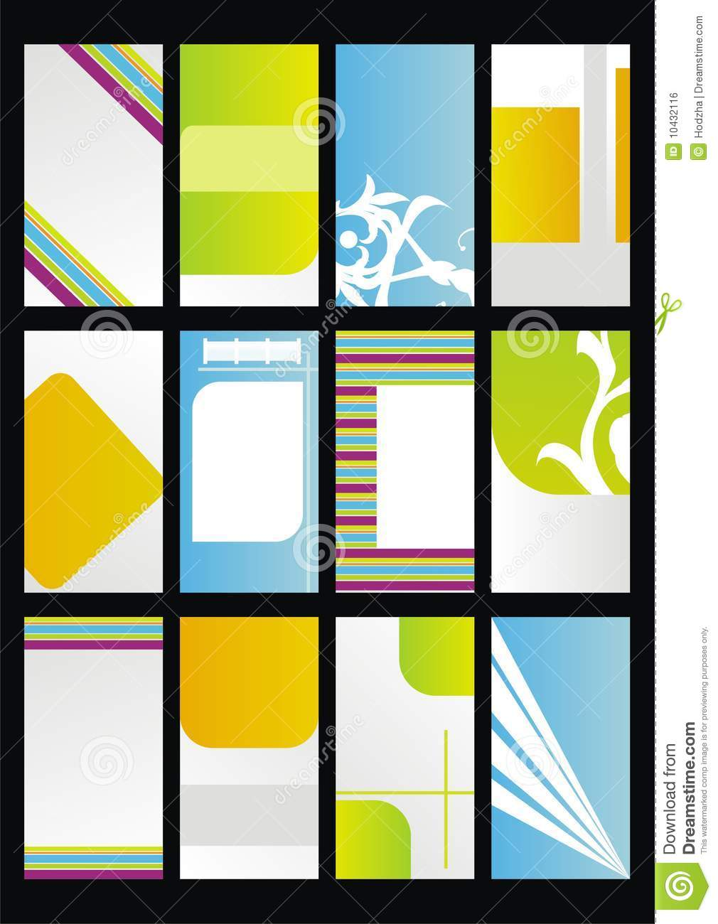 Design template set business cards stock vector illustration of download comp reheart Images