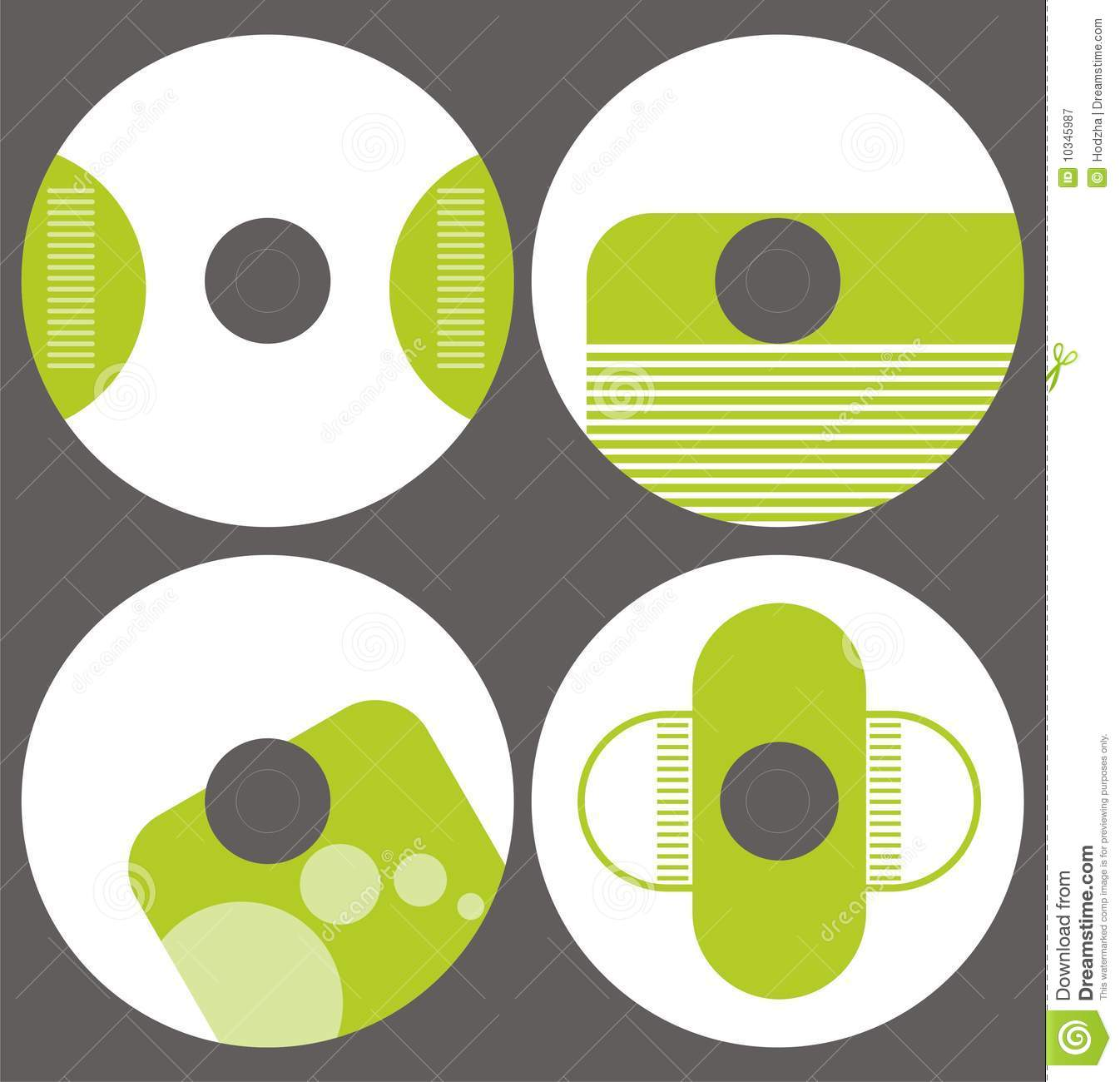 Design Template Set Cd On Vector Royalty Free Stock