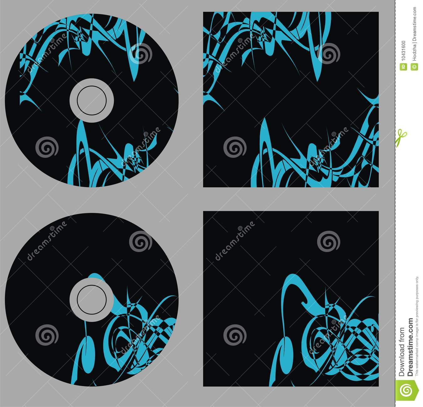 Design Template. Set Cd On Vector Stock Photo - Image ...