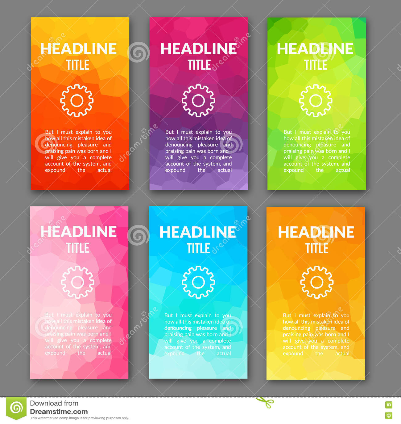 design template set of web backgrounds  brochure flyer