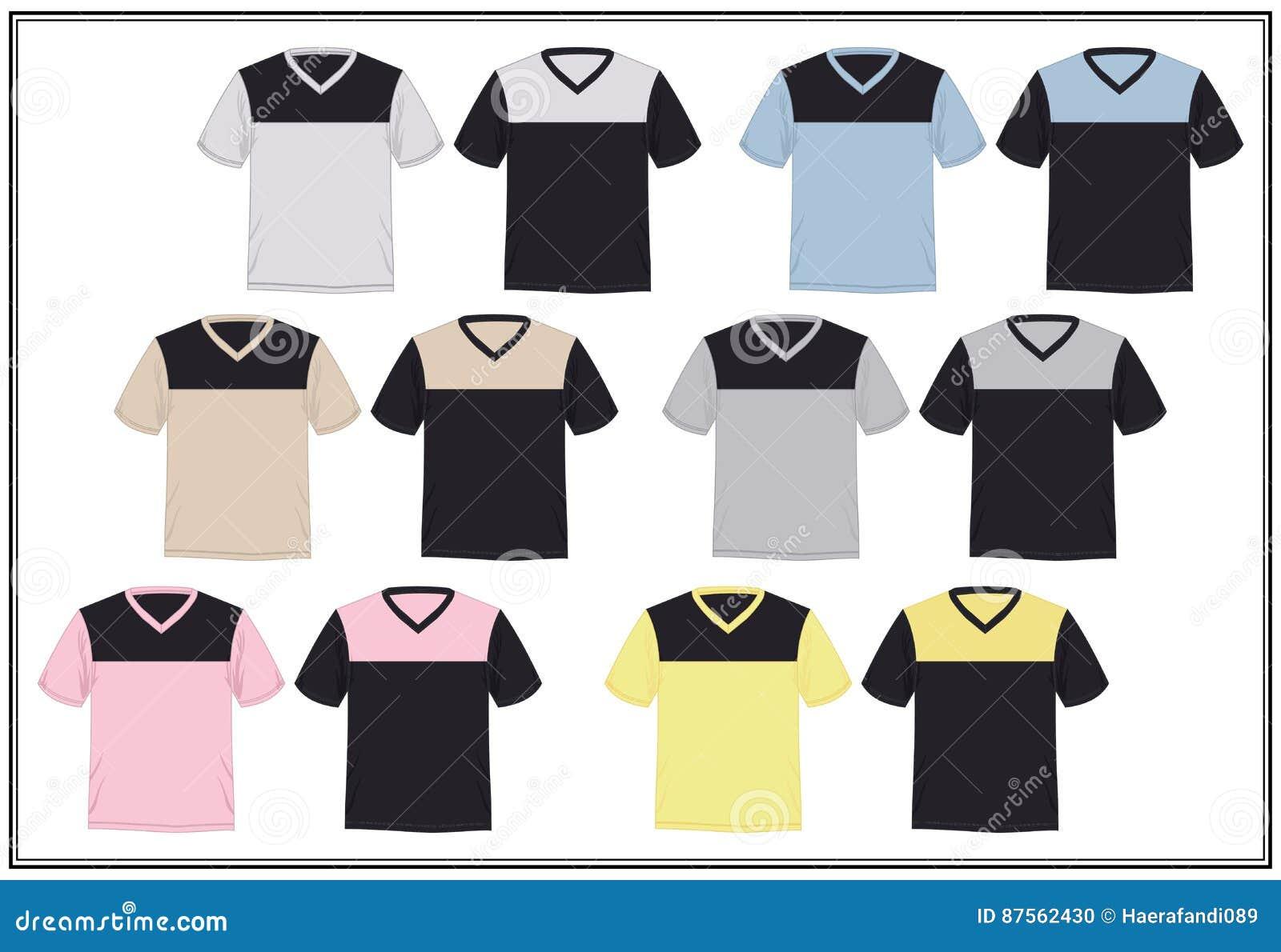 Design shirt v neck - Design Template T Shirt V Neck Combination Bright Color Vector