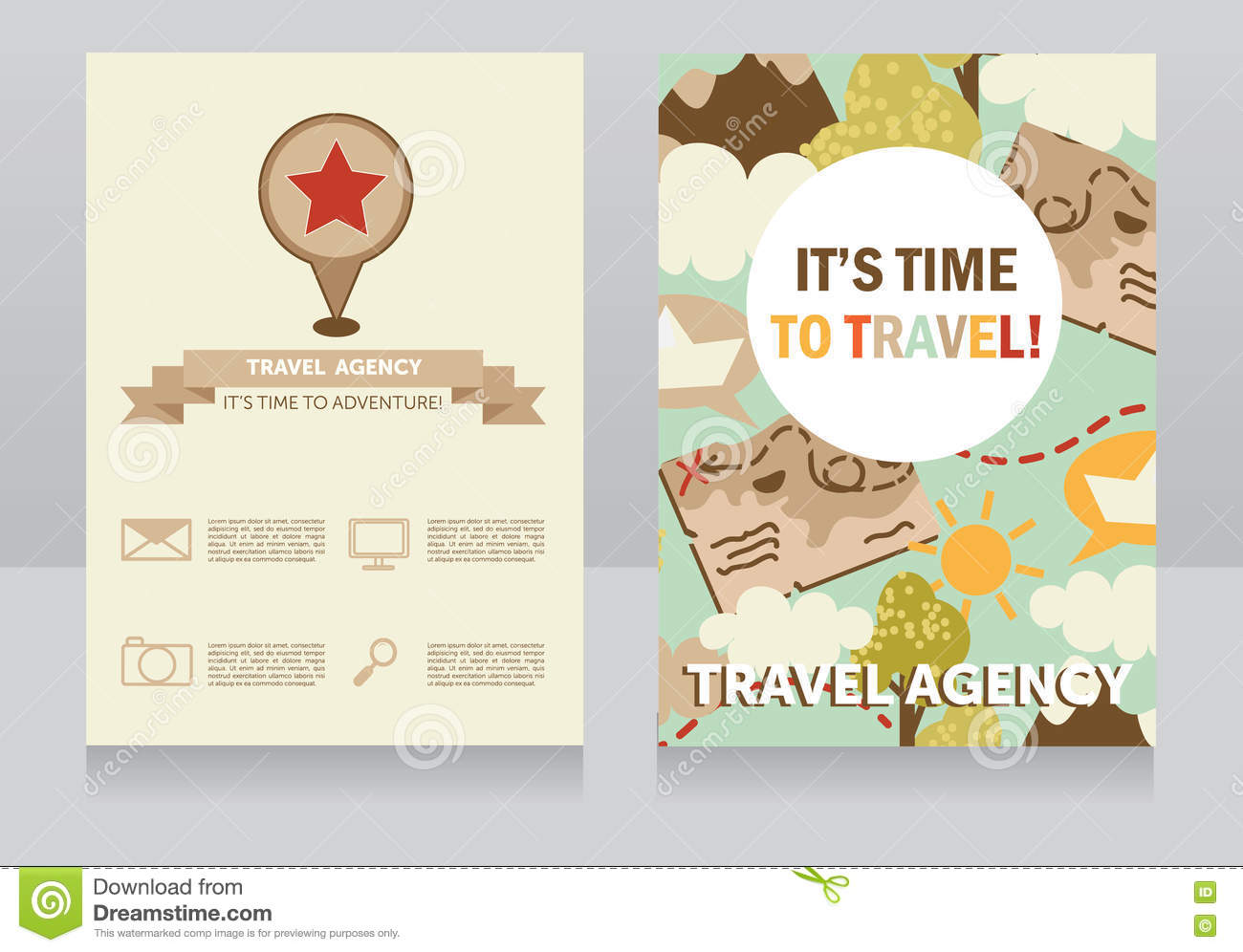 Design template for travel agency business card stock vector download design template for travel agency business card stock vector illustration of frame colorful colourmoves