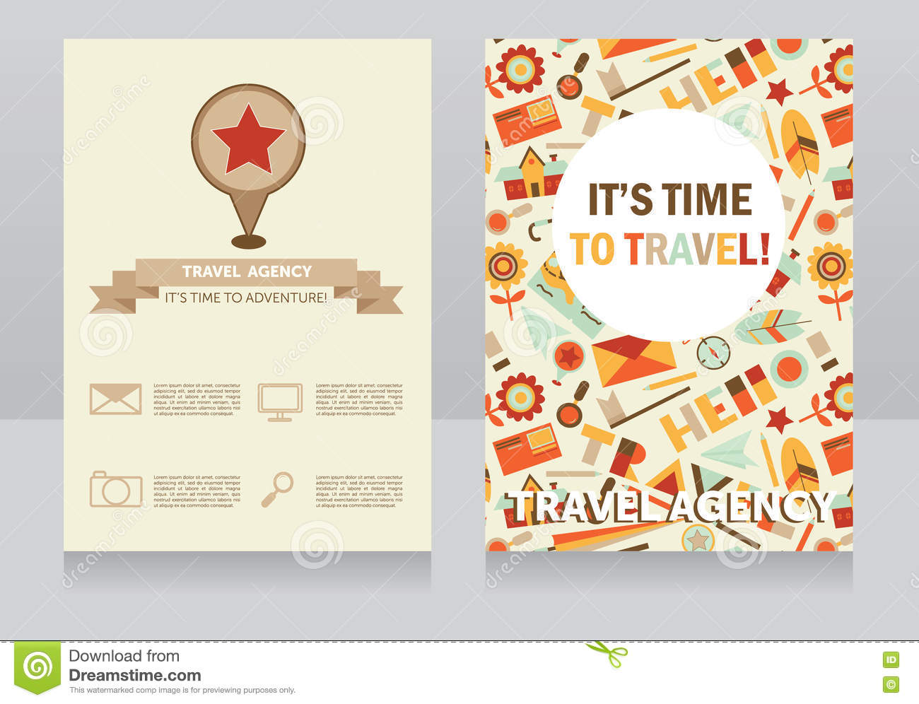 Design Template For Travel Agency Business Card Stock Vector ...