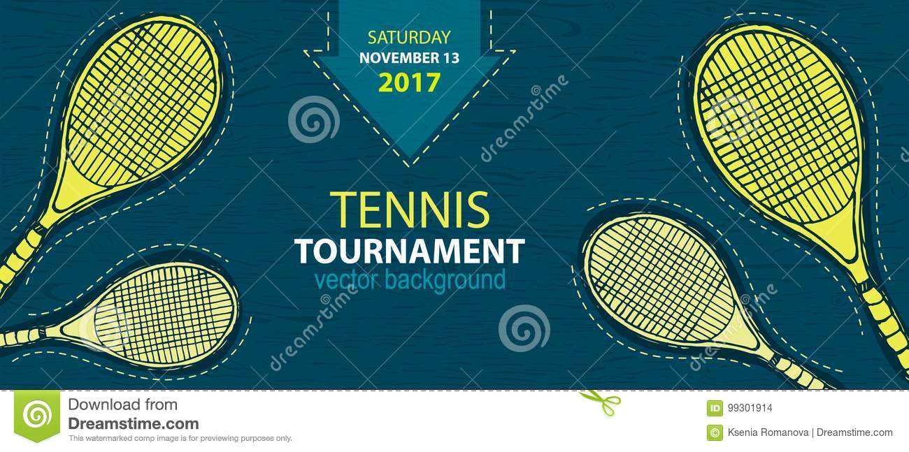 Design For Tennis Banner Stock Vector Illustration Of Abstract 99301914