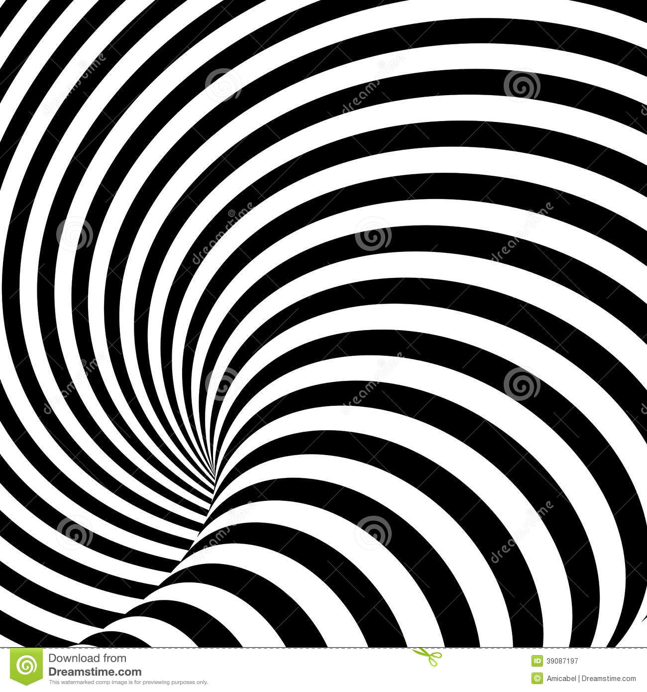 Design Uncolored Whirlpool Illusion Background Stock