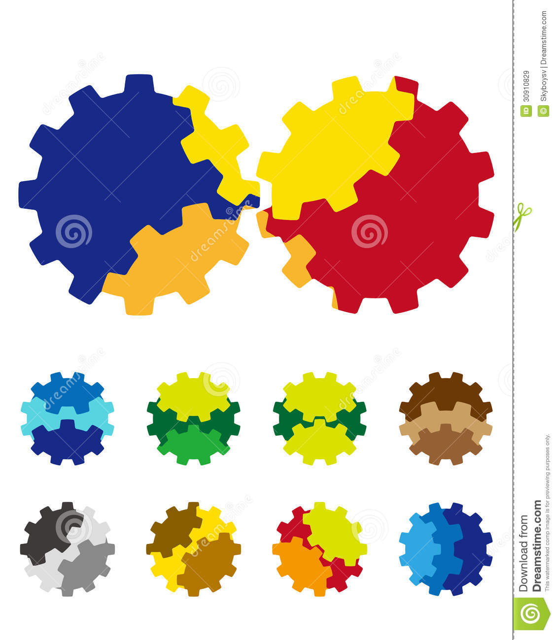 Design Vector Gears Logo Element Royalty Free Stock Images - Image ...